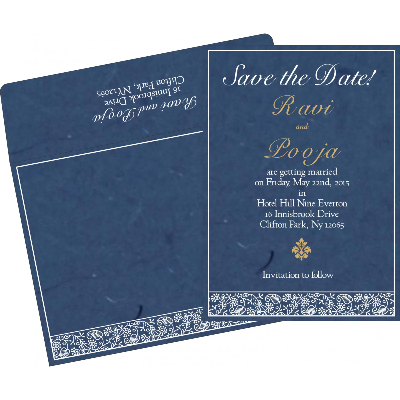Save The Date Cards : STD-8215I - 123WeddingCards
