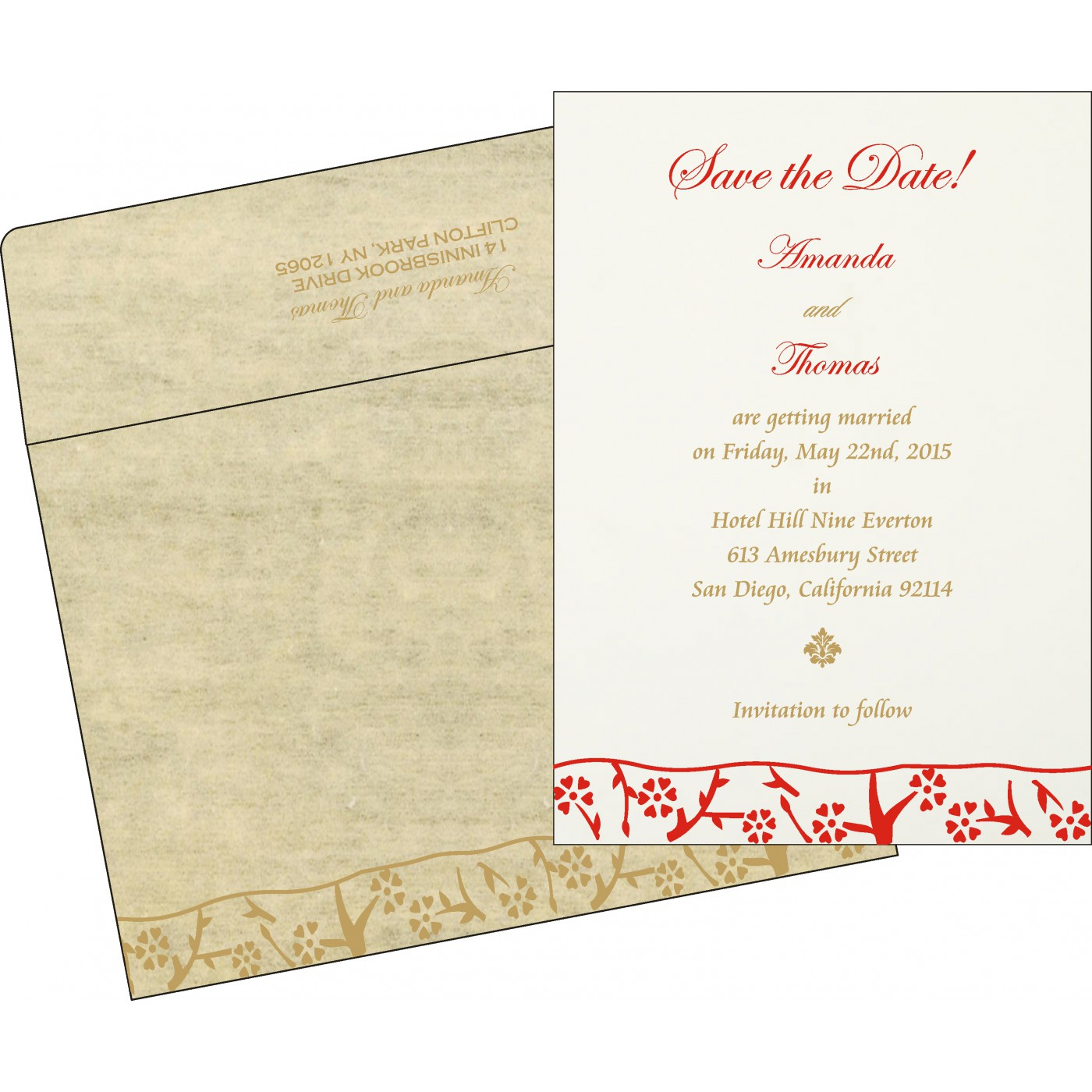 Save The Date Cards : STD-8216A - 123WeddingCards