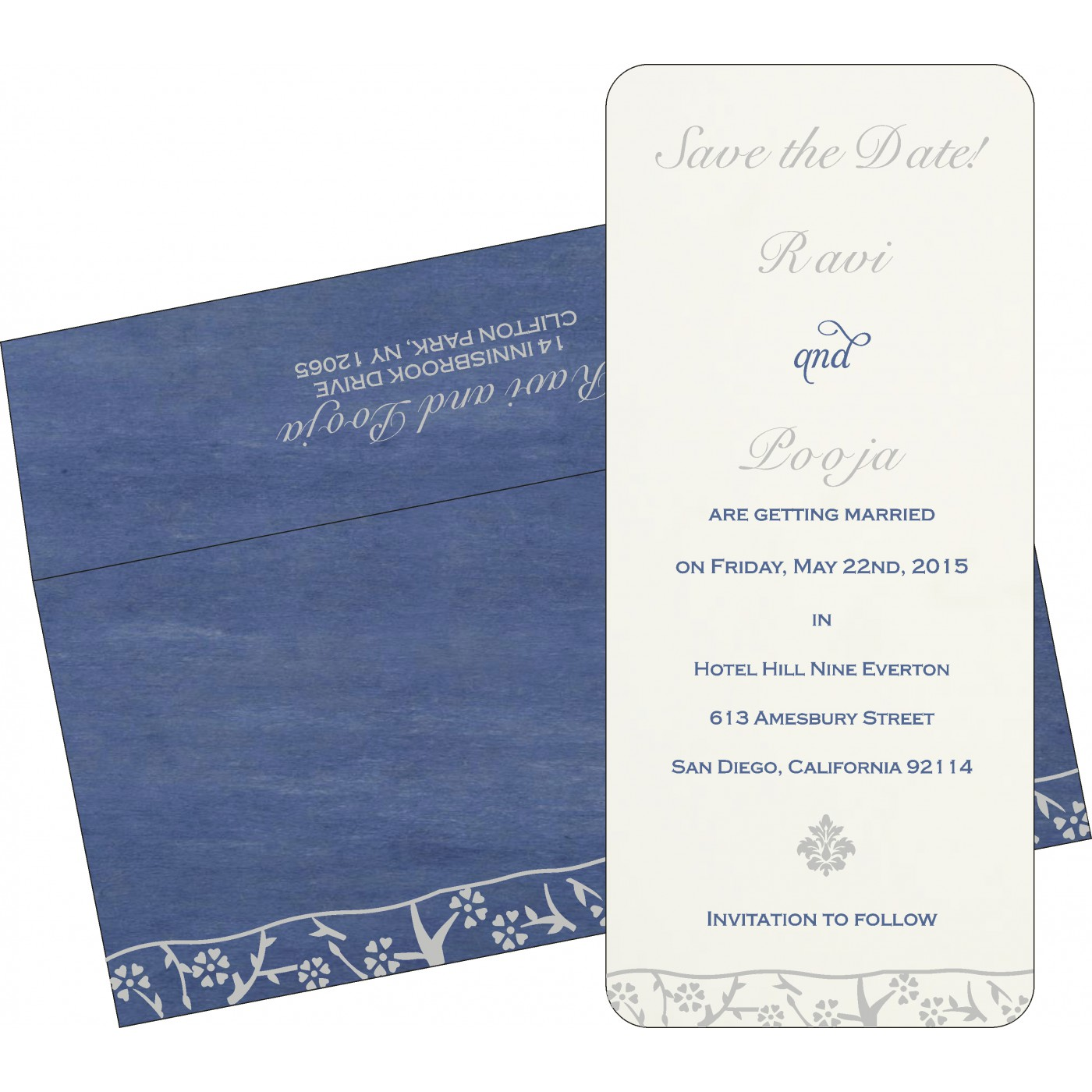 Save The Date Cards : STD-8216D - 123WeddingCards