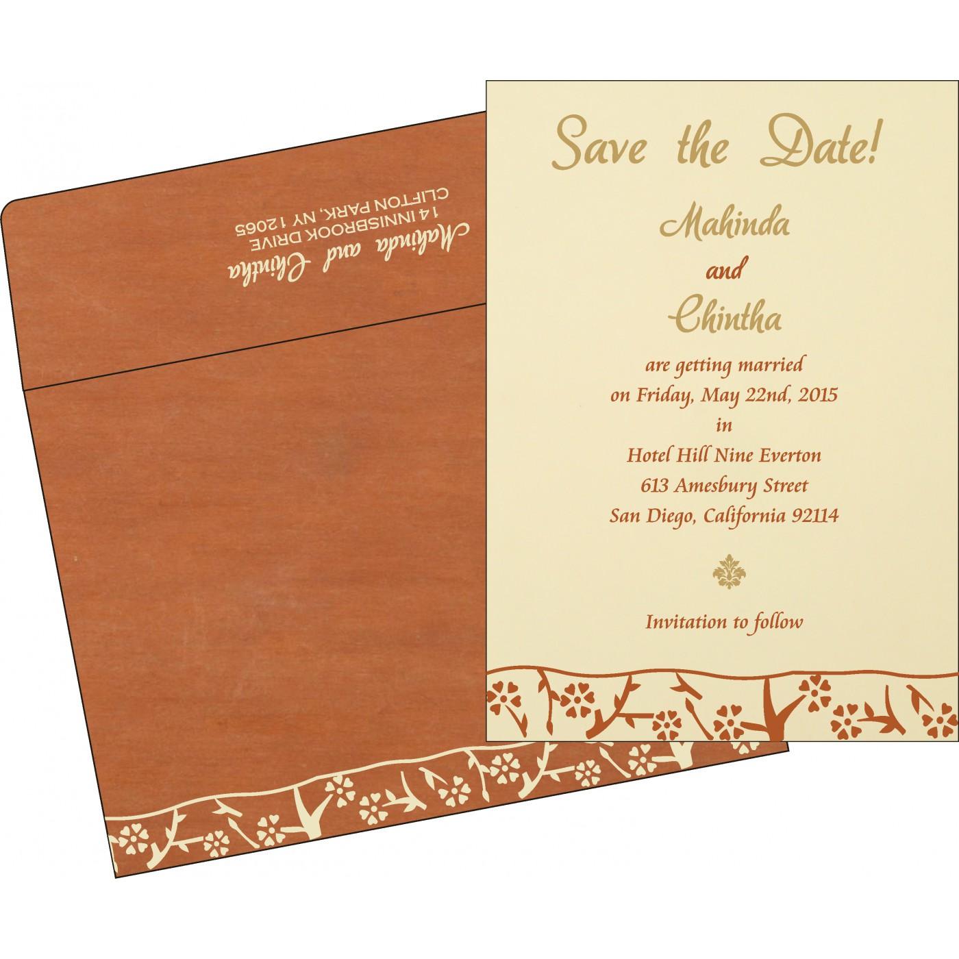 Save The Date Cards : STD-8216E - 123WeddingCards