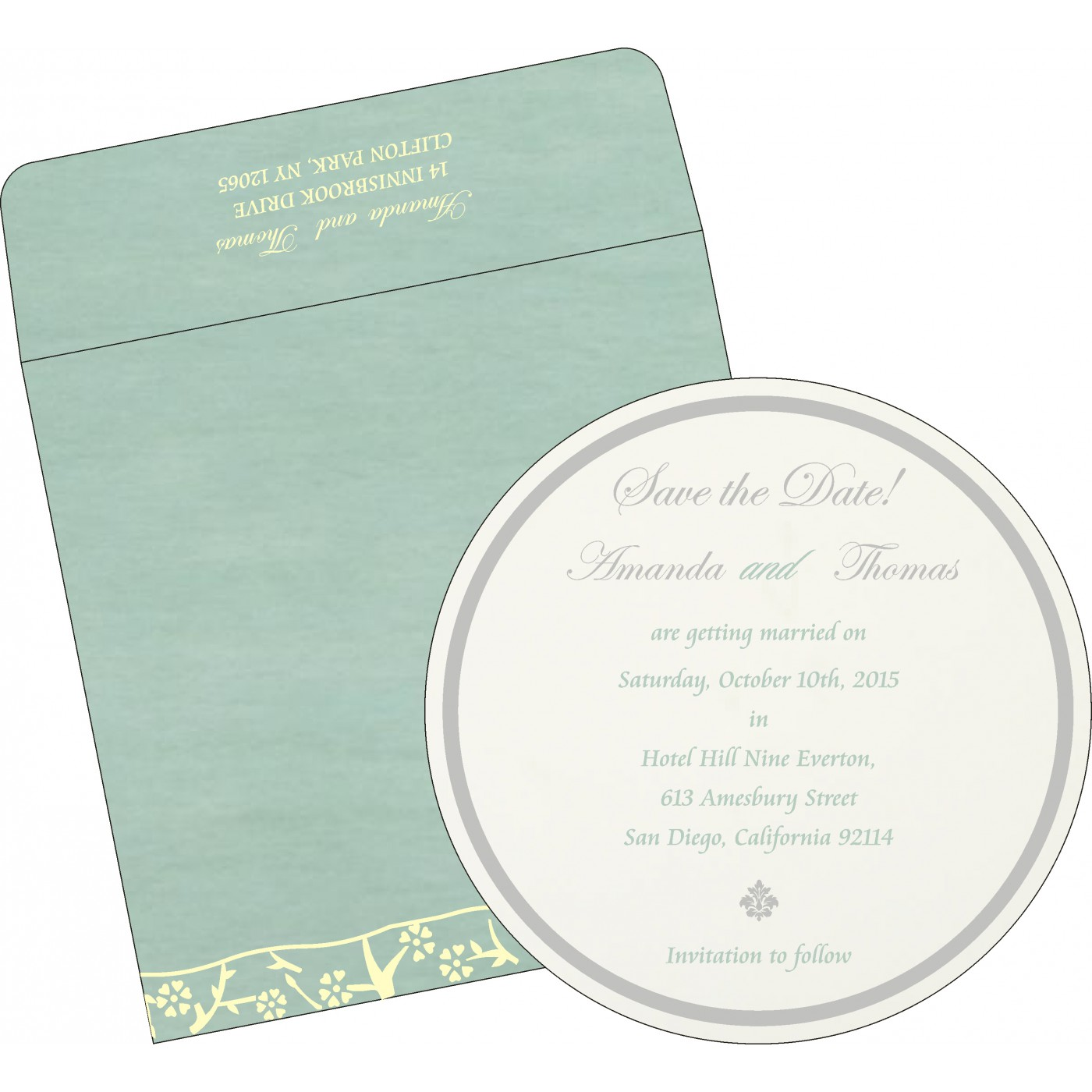 Save The Date Cards : STD-8216F - 123WeddingCards
