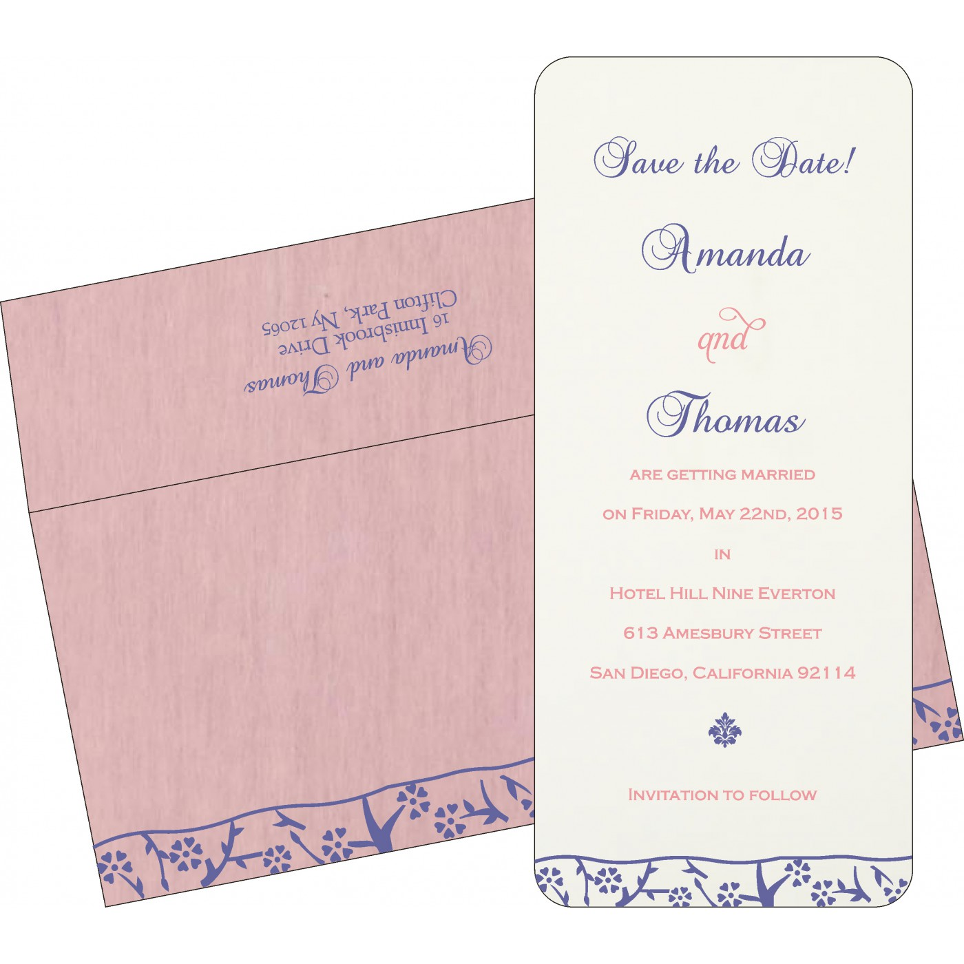 Save The Date Cards : STD-8216I - 123WeddingCards