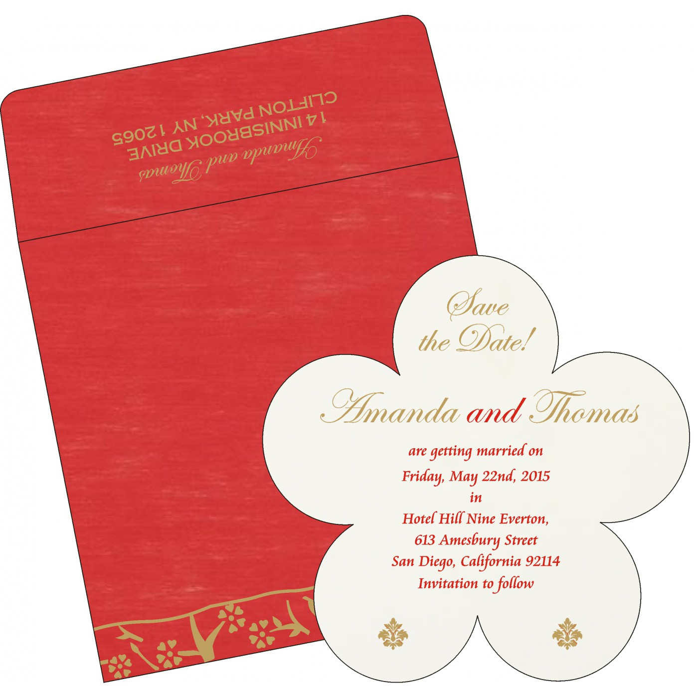 Save The Date Cards : STD-8216L - 123WeddingCards