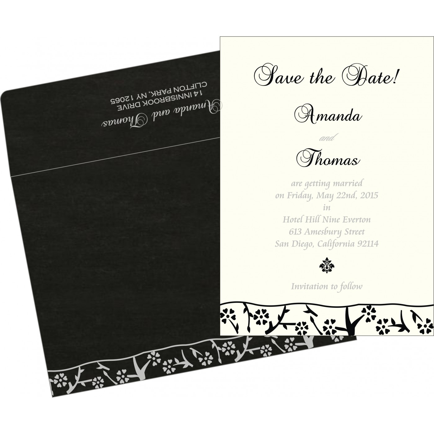 Save The Date Cards : STD-8216N - 123WeddingCards