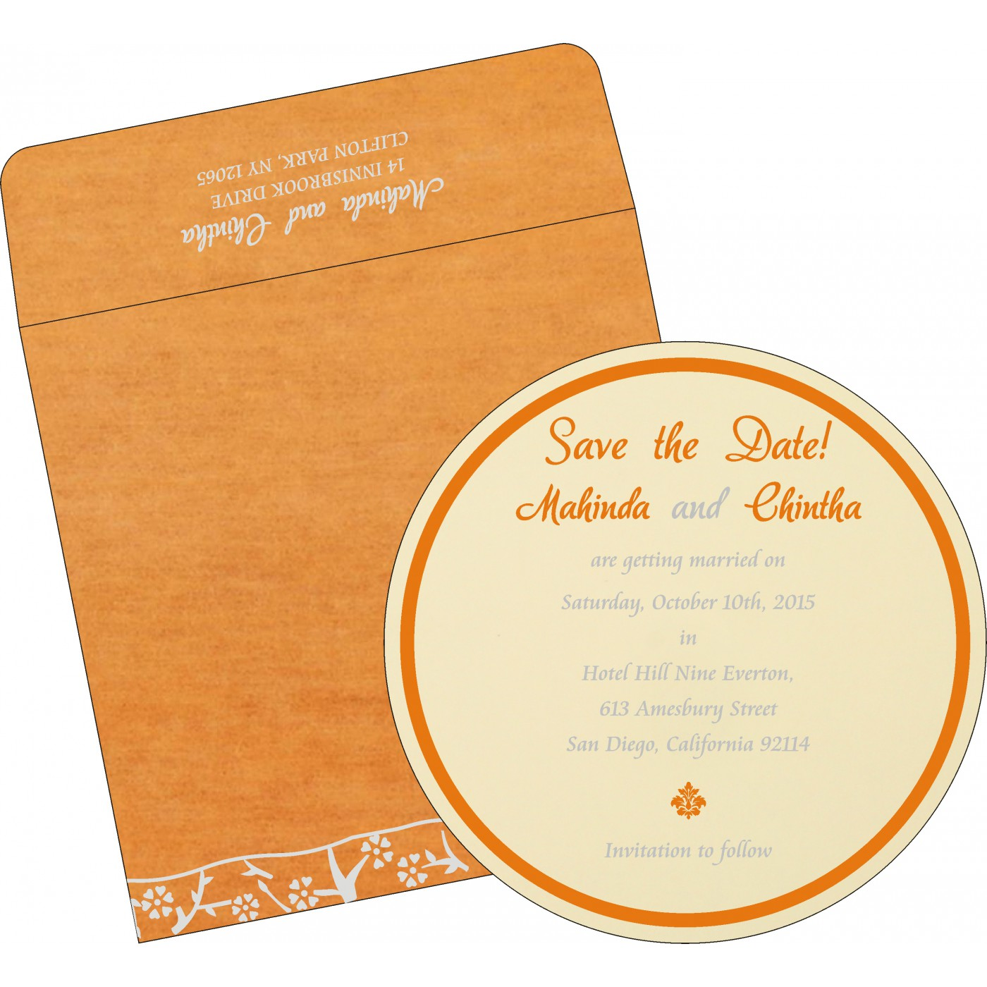 Save The Date Cards : STD-8216O - 123WeddingCards