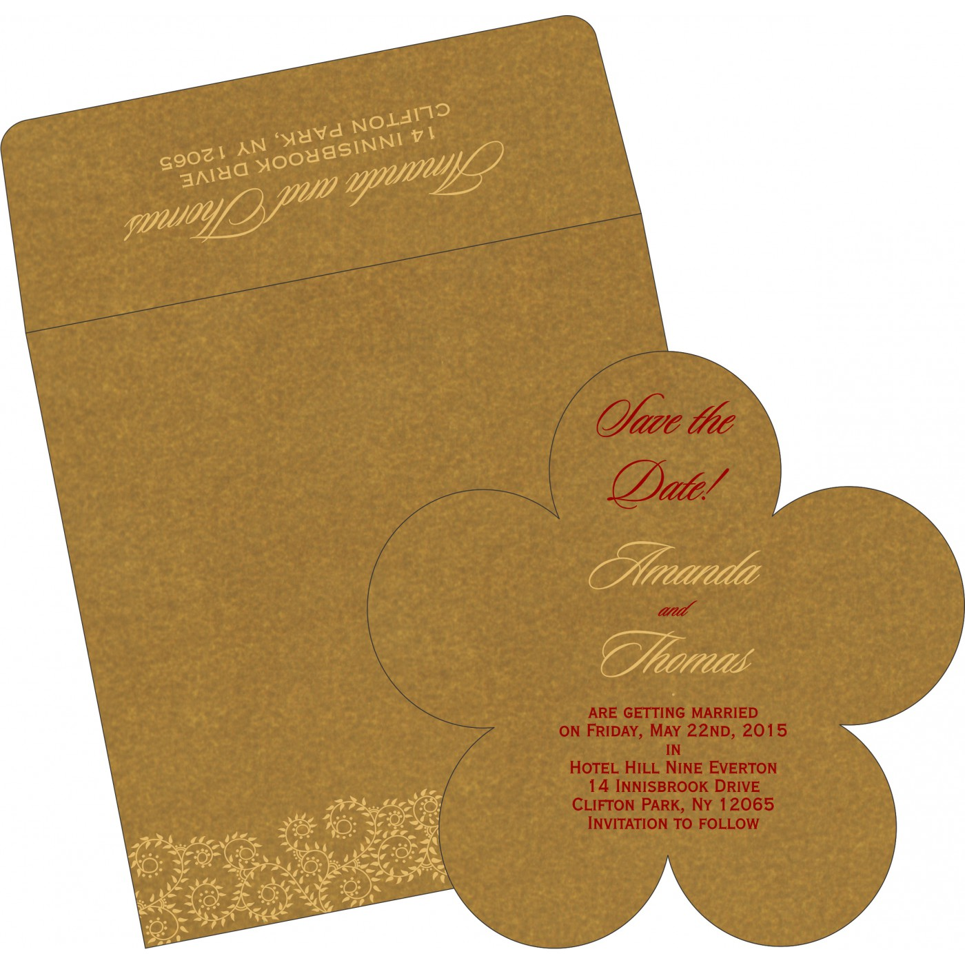 Save The Date Cards : STD-8217C - 123WeddingCards