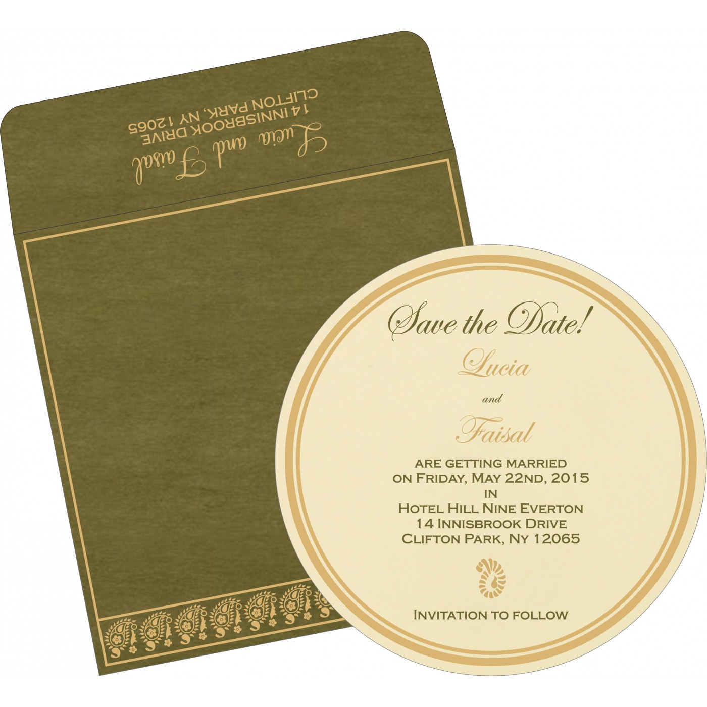 Save The Date Cards : STD-8218A - 123WeddingCards