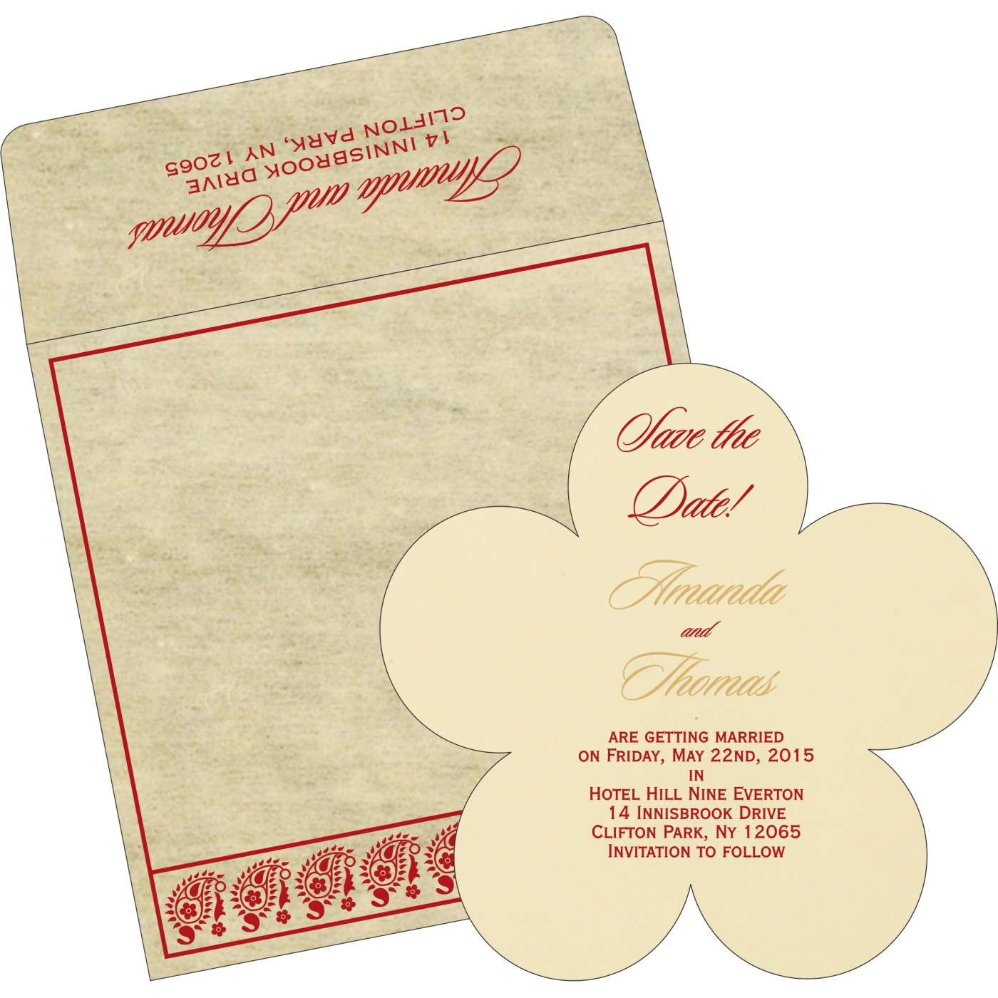Save The Date Cards : STD-8218B - 123WeddingCards