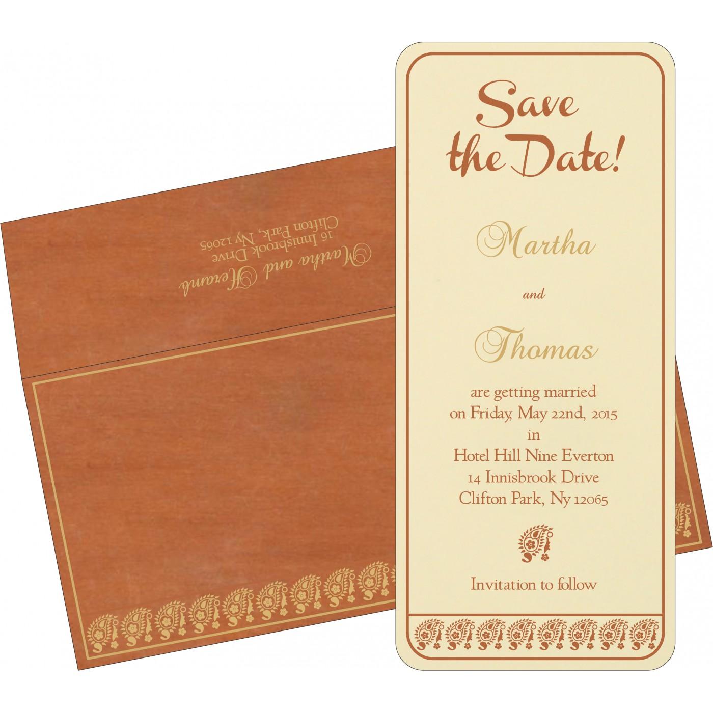 Save The Date Cards : STD-8218C - 123WeddingCards