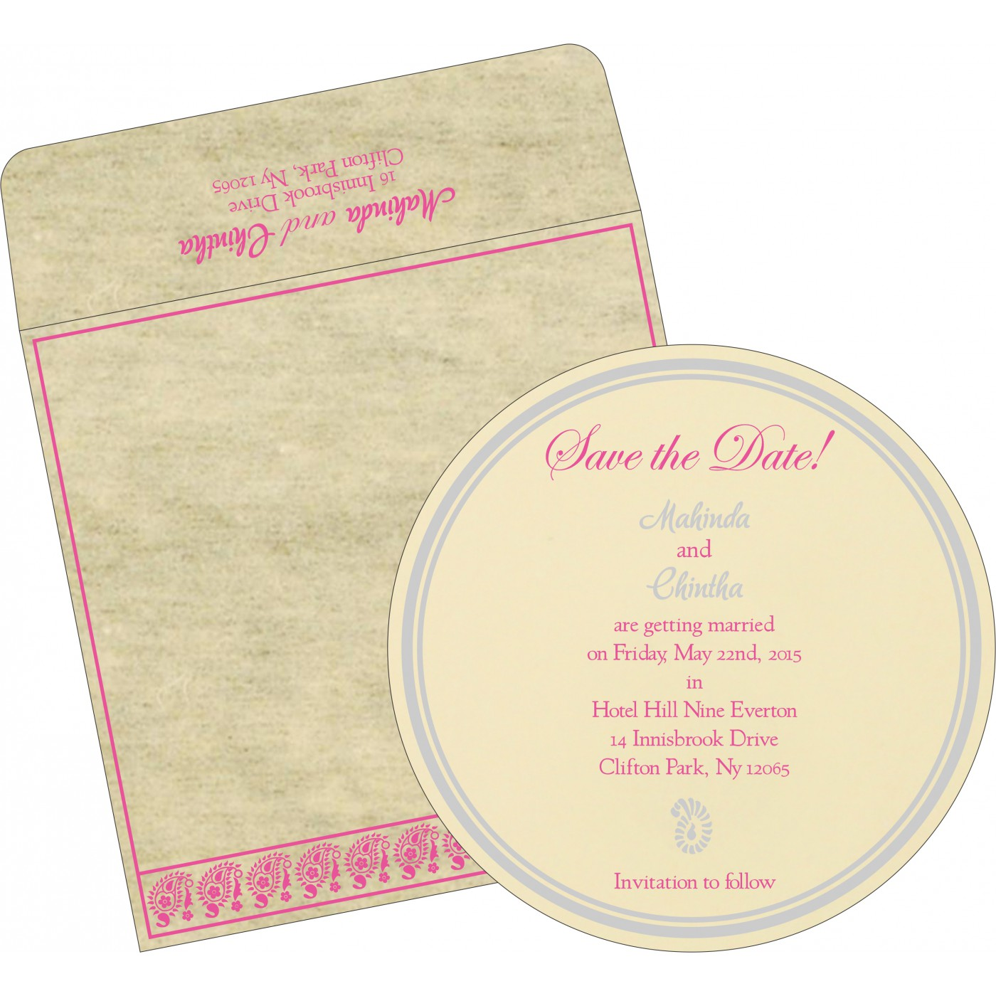 Save The Date Cards : STD-8218F - 123WeddingCards