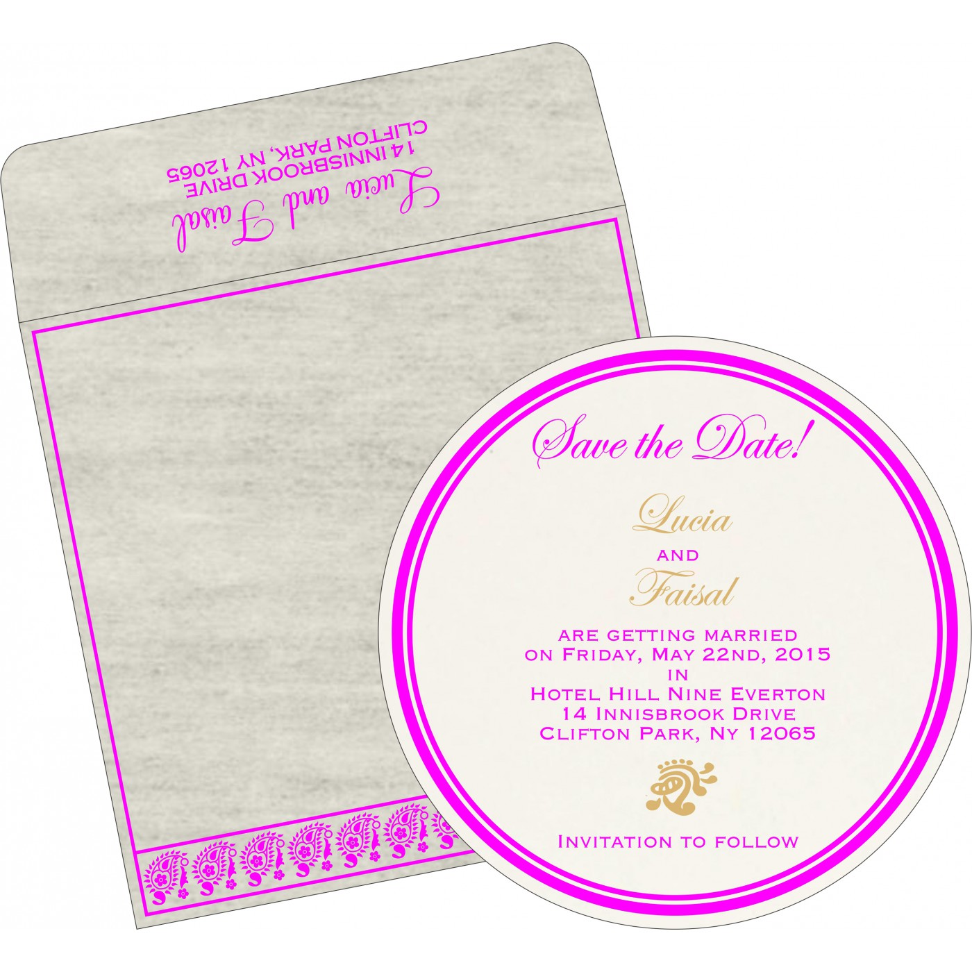 Save The Date Cards : STD-8218G - 123WeddingCards