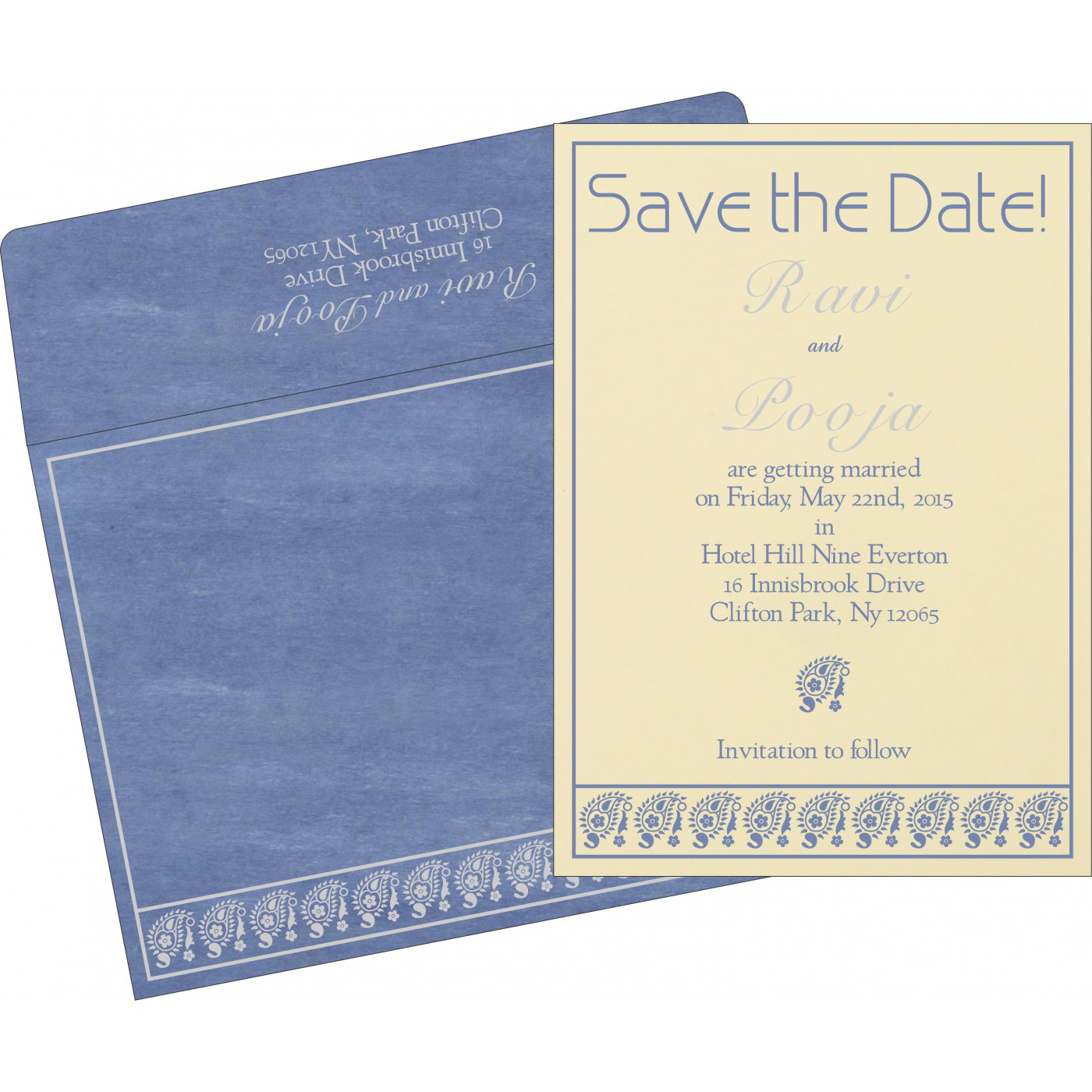 Save The Date Cards : STD-8218K - 123WeddingCards