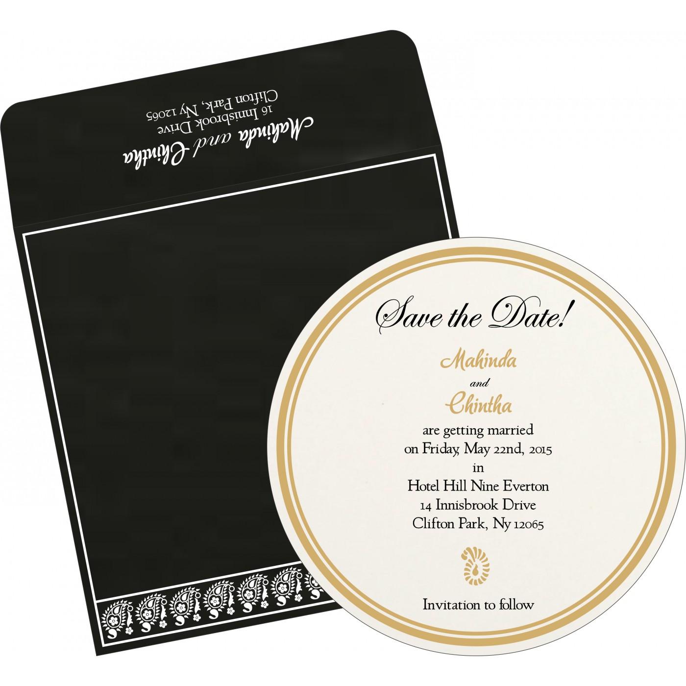 Save The Date Cards : STD-8218L - 123WeddingCards