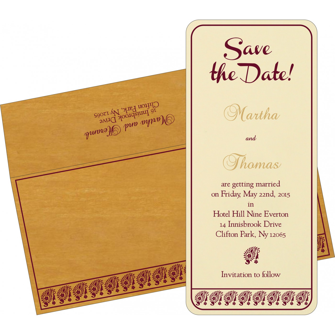 Save The Date Cards : STD-8218N - 123WeddingCards