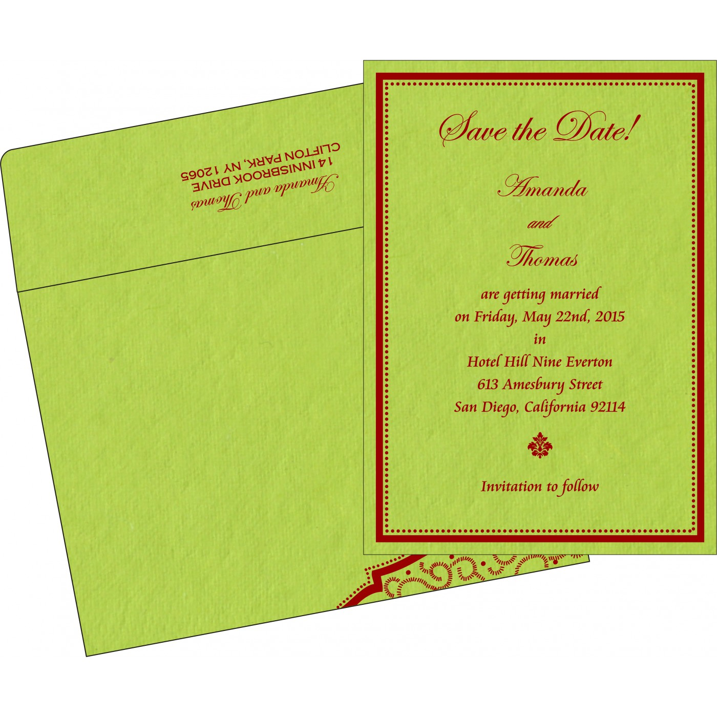 Save The Date Cards : STD-8219A - 123WeddingCards