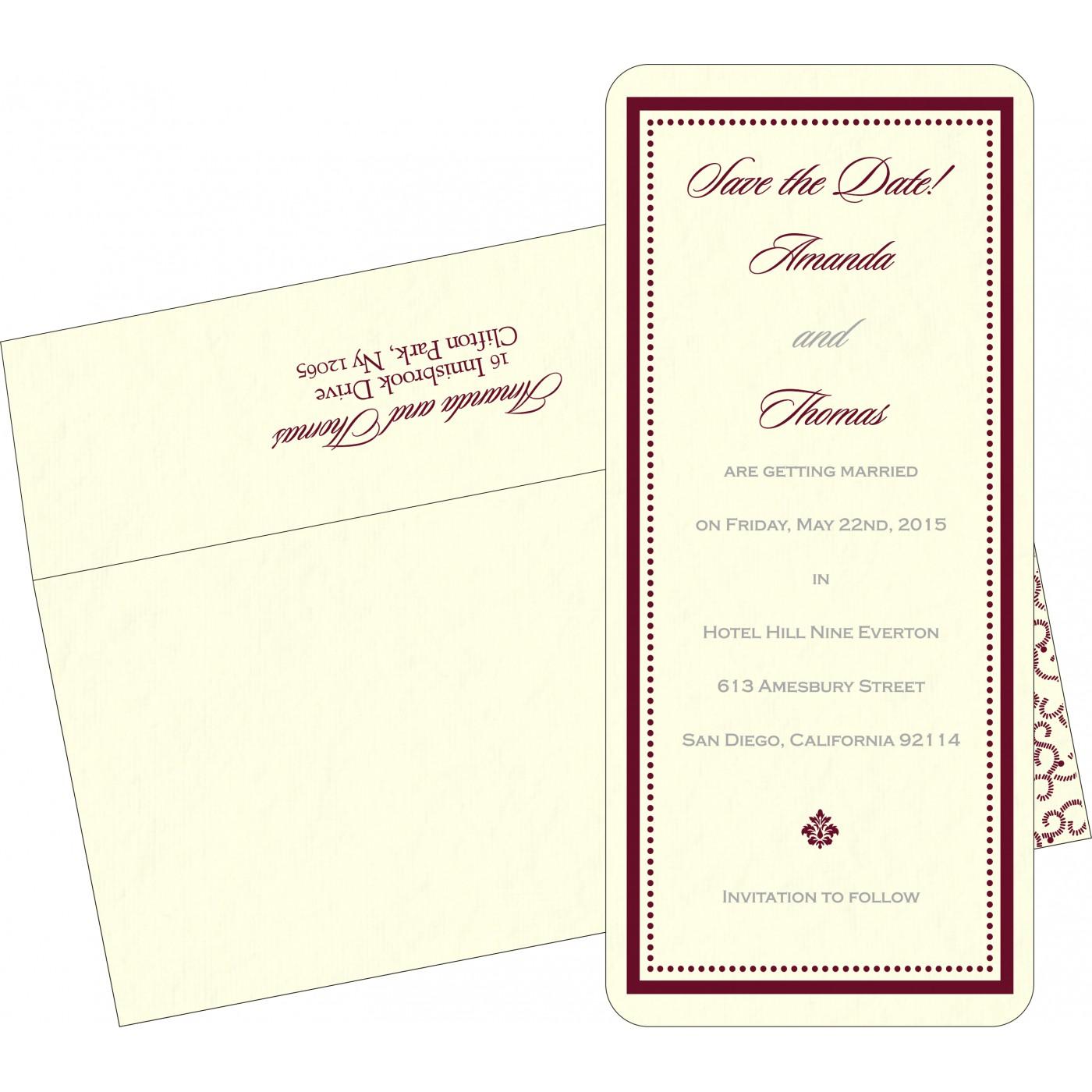 Save The Date Cards : STD-8219L - 123WeddingCards