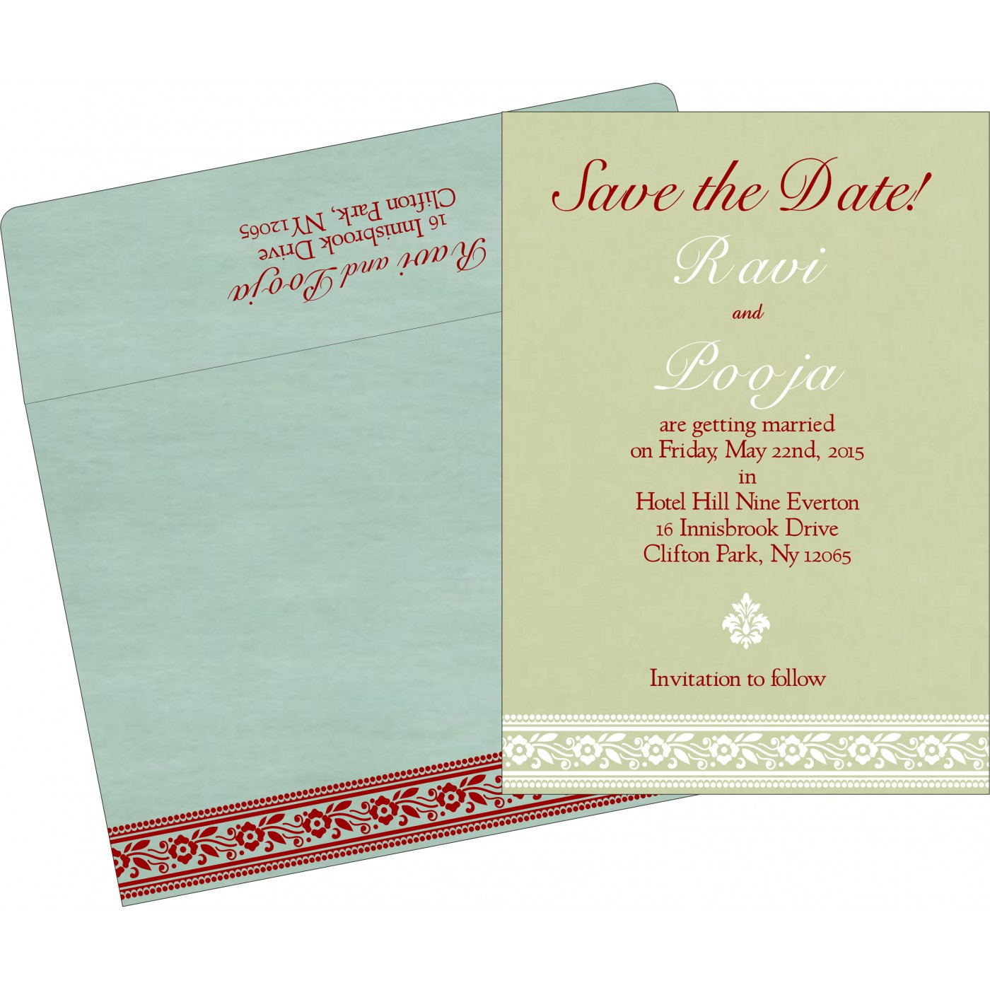 Save The Date Cards : STD-8220G - 123WeddingCards