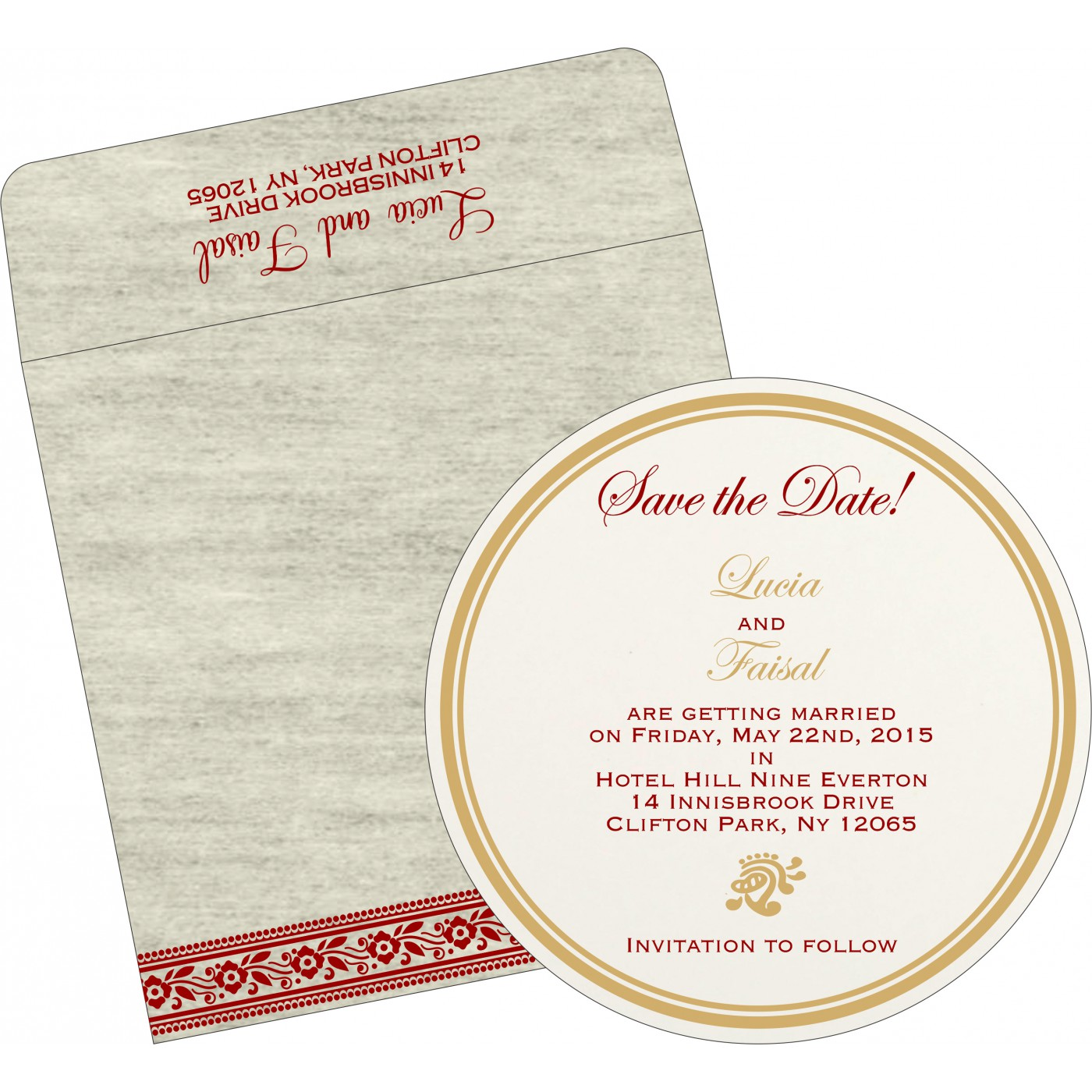 Save The Date Cards : STD-8220I - 123WeddingCards
