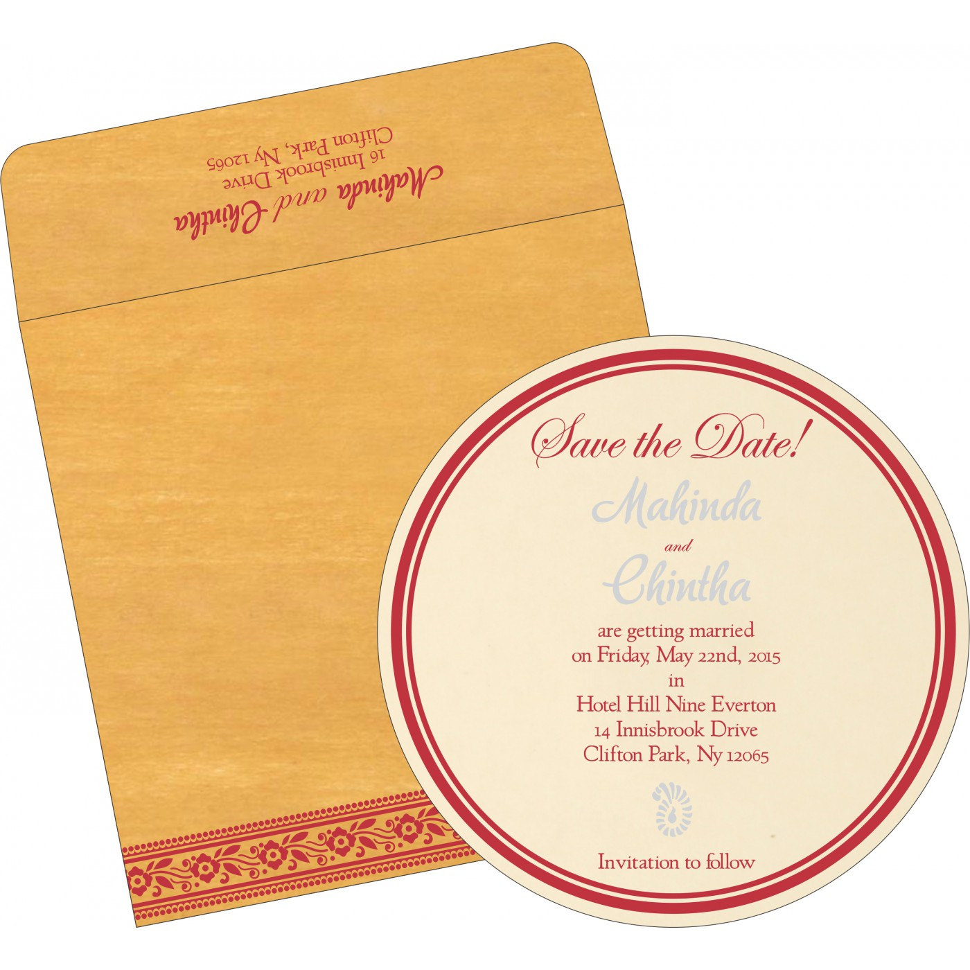 Save The Date Cards : STD-8220O - 123WeddingCards