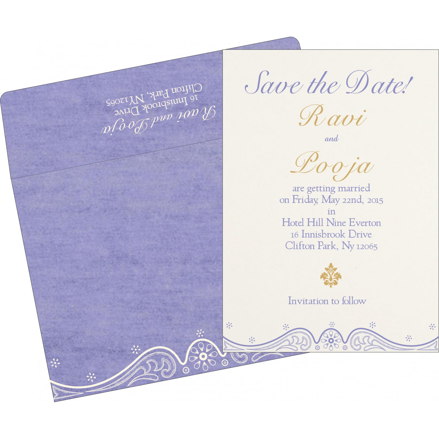 Save The Date Cards : STD-8221E - 123WeddingCards
