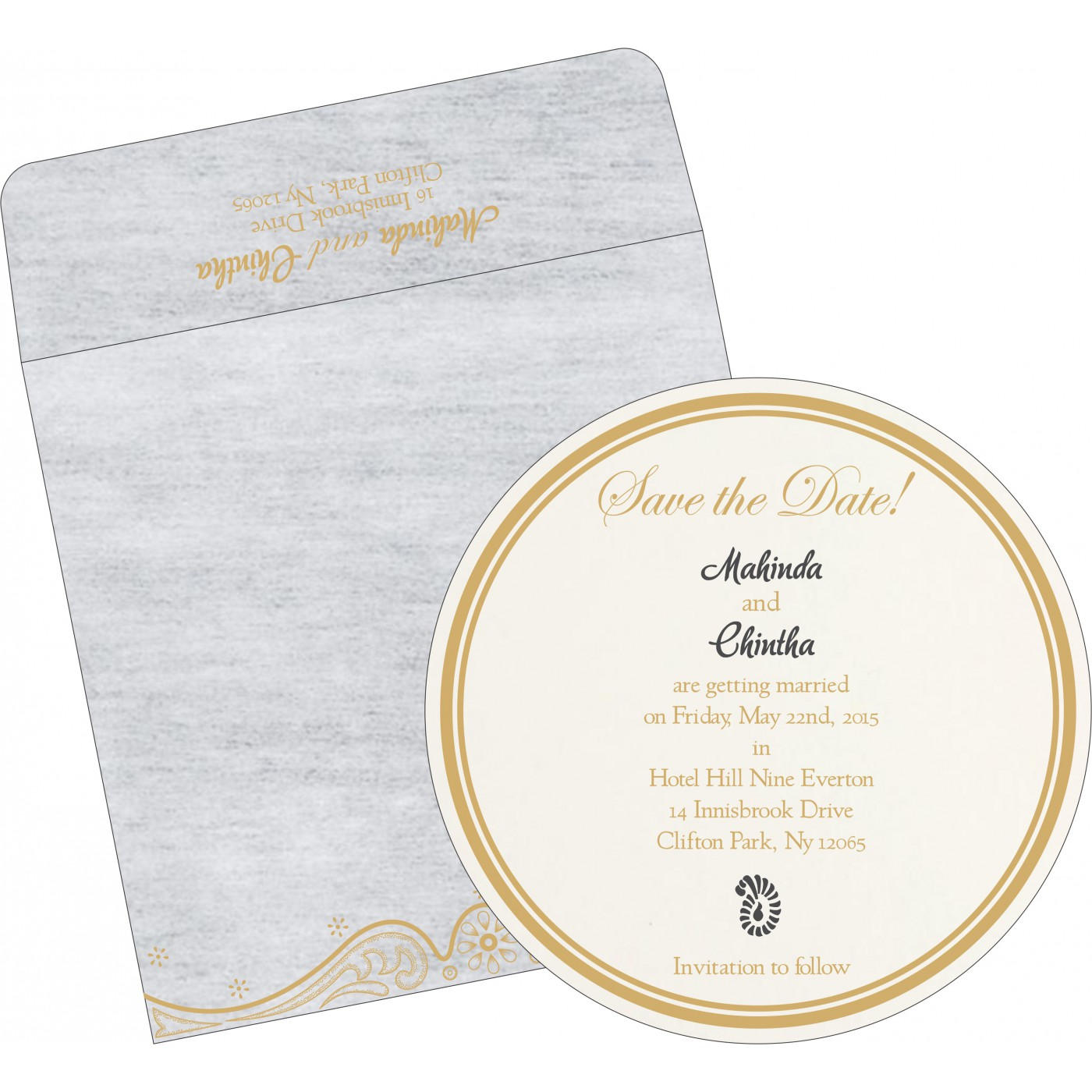 Save The Date Cards : STD-8221G - 123WeddingCards