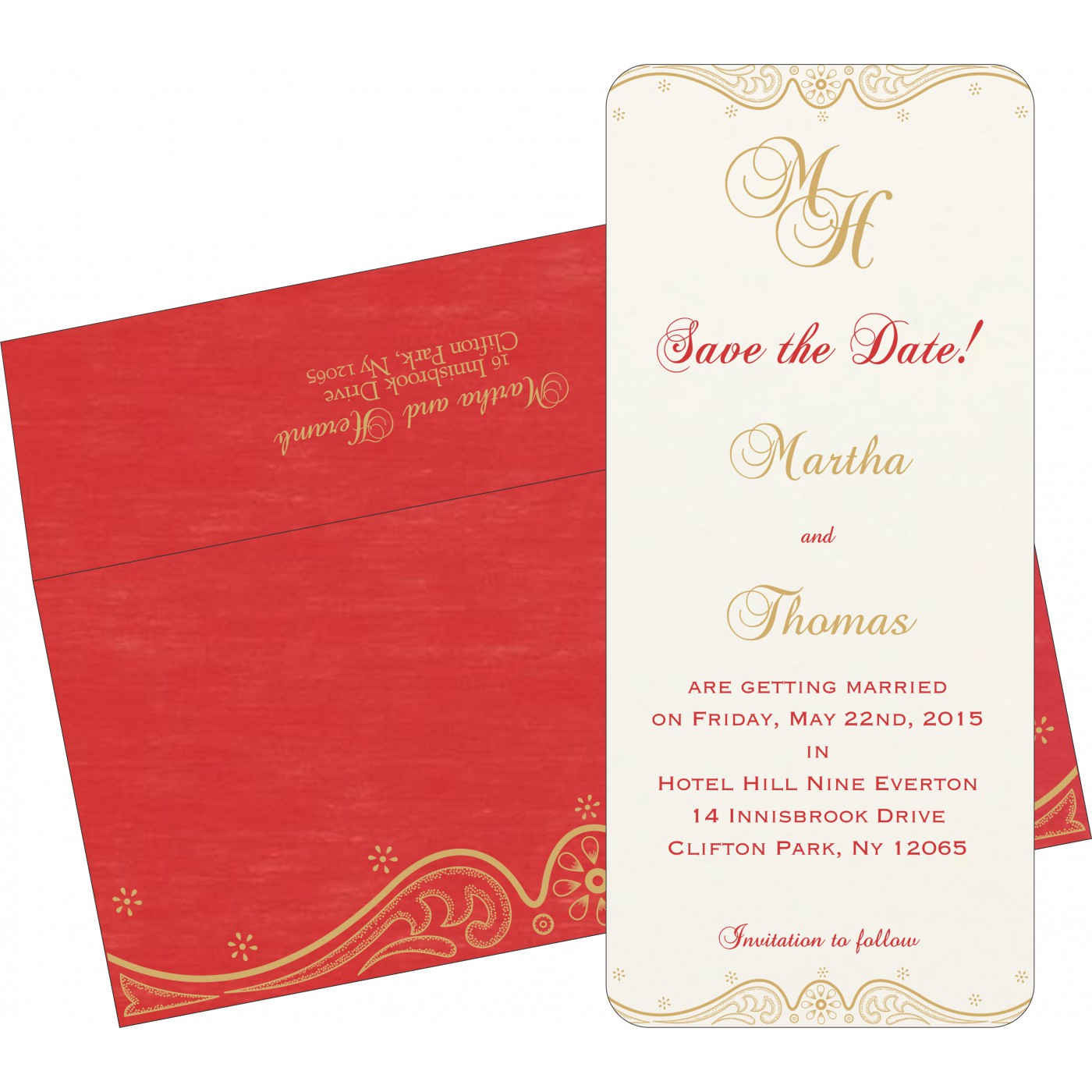 Save The Date Cards : STD-8221J - 123WeddingCards