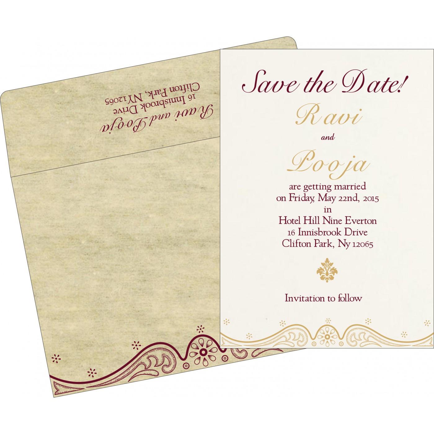Save The Date Cards : STD-8221K - 123WeddingCards