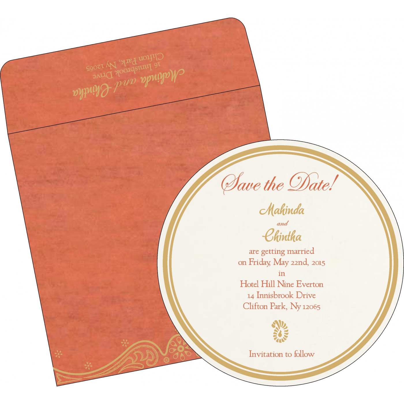Save The Date Cards : STD-8221L - 123WeddingCards