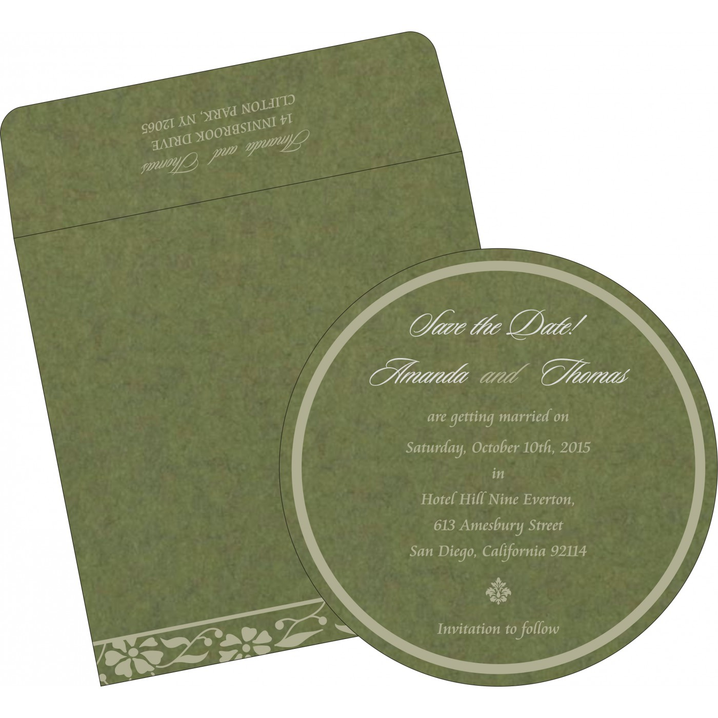 Save The Date Cards : STD-8222D - 123WeddingCards