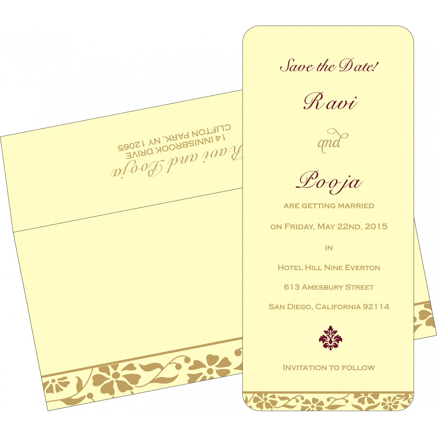 Save The Date Cards : STD-8222F - 123WeddingCards