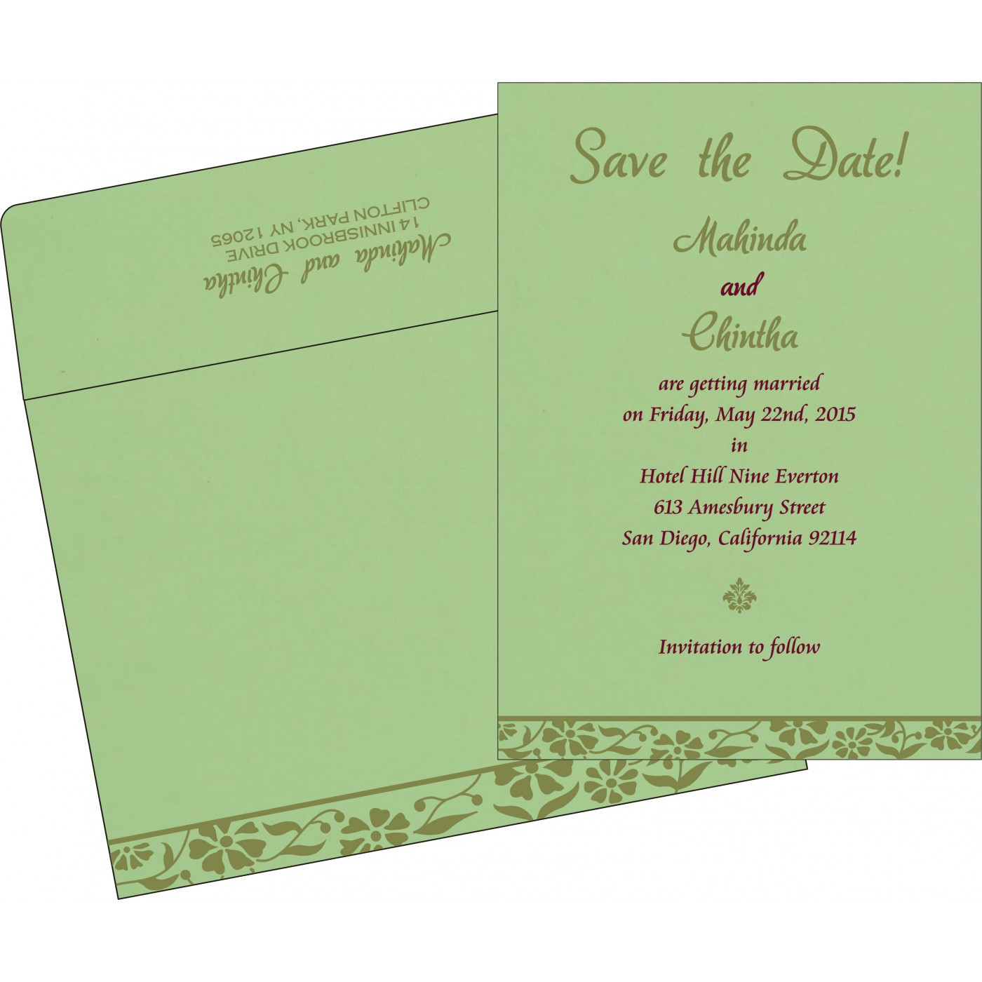 Save The Date Cards : STD-8222G - 123WeddingCards