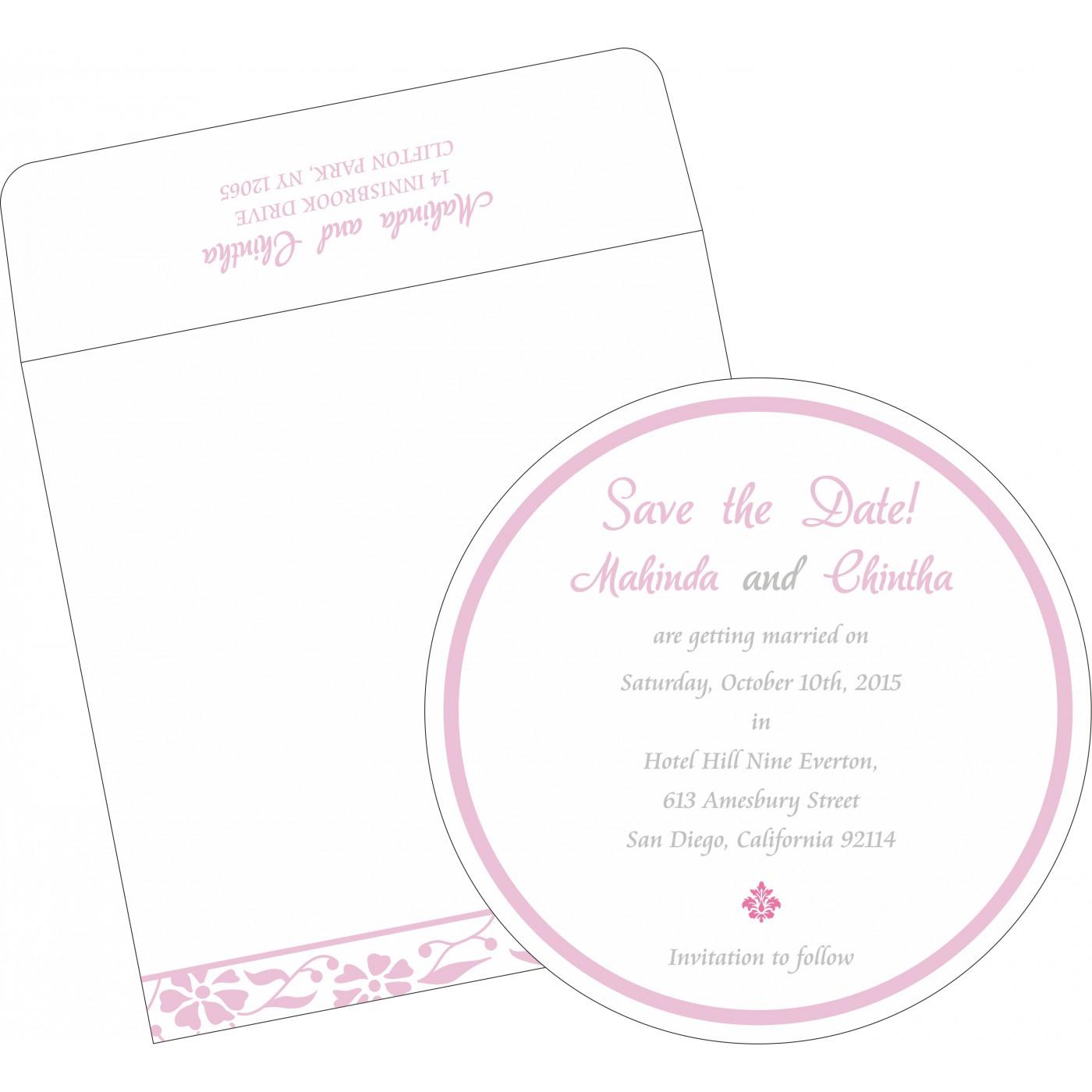 Save The Date Cards : STD-8222N - 123WeddingCards