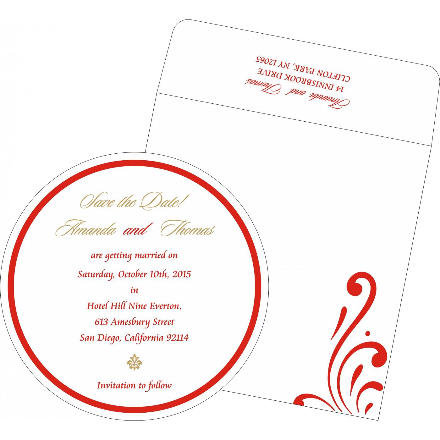 Save The Date Cards : STD-8223C - 123WeddingCards
