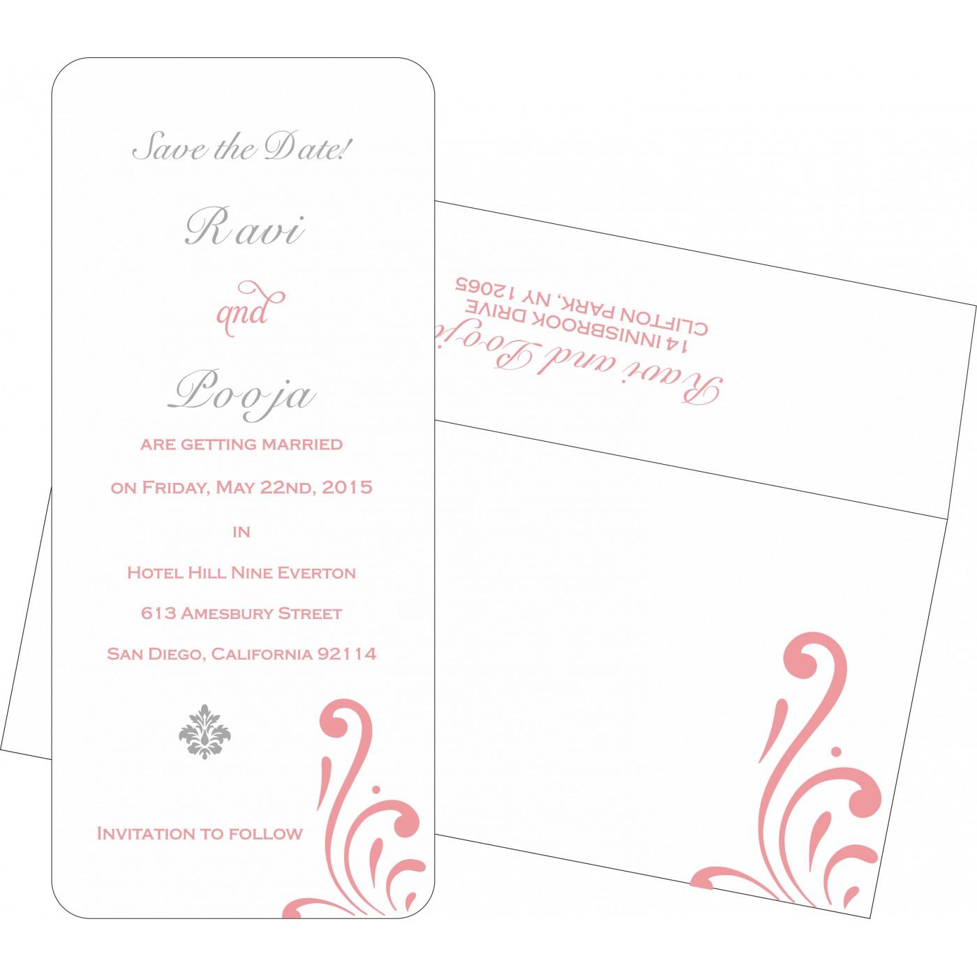 Save The Date Cards : STD-8223E - 123WeddingCards