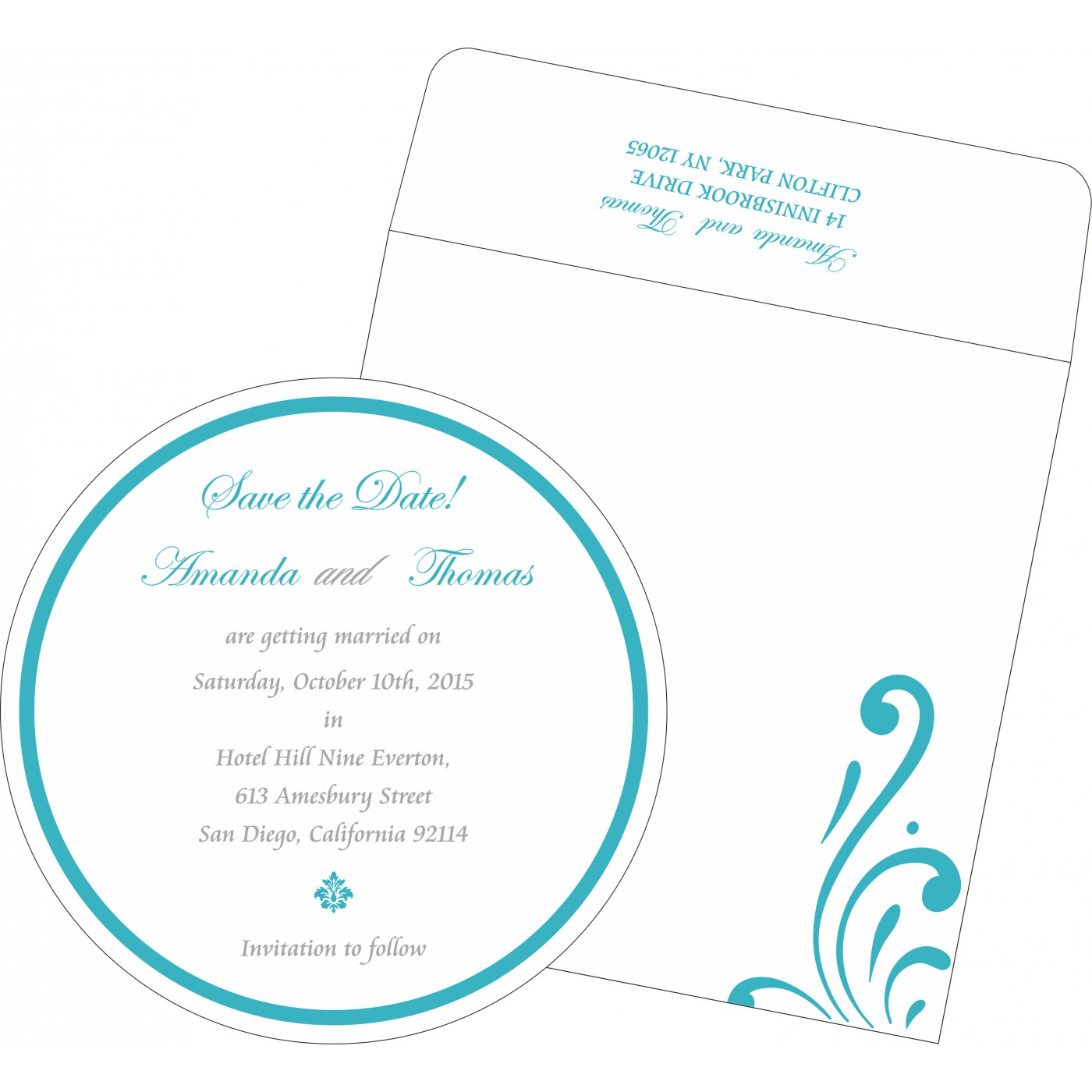 Save The Date Cards : STD-8223H - 123WeddingCards
