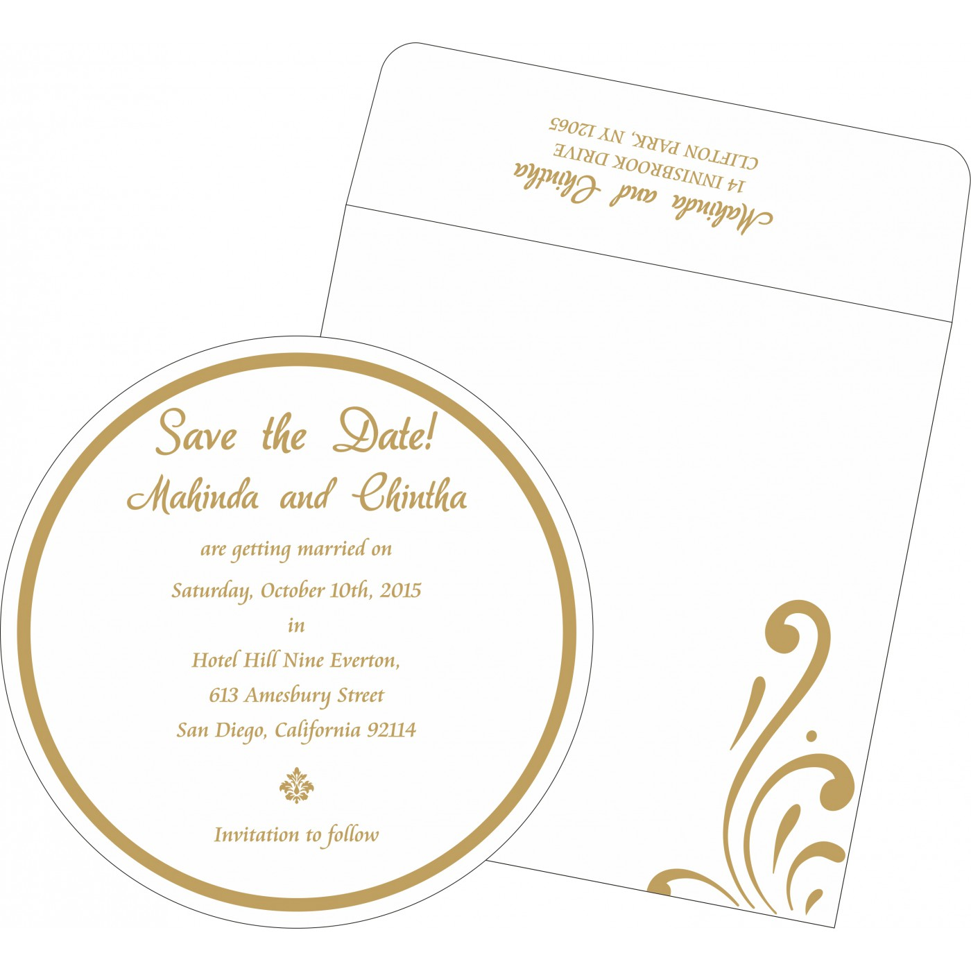 Save The Date Cards : STD-8223L - 123WeddingCards