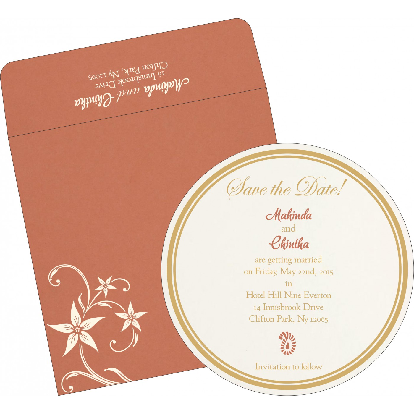 Save The Date Cards : STD-8225G - 123WeddingCards