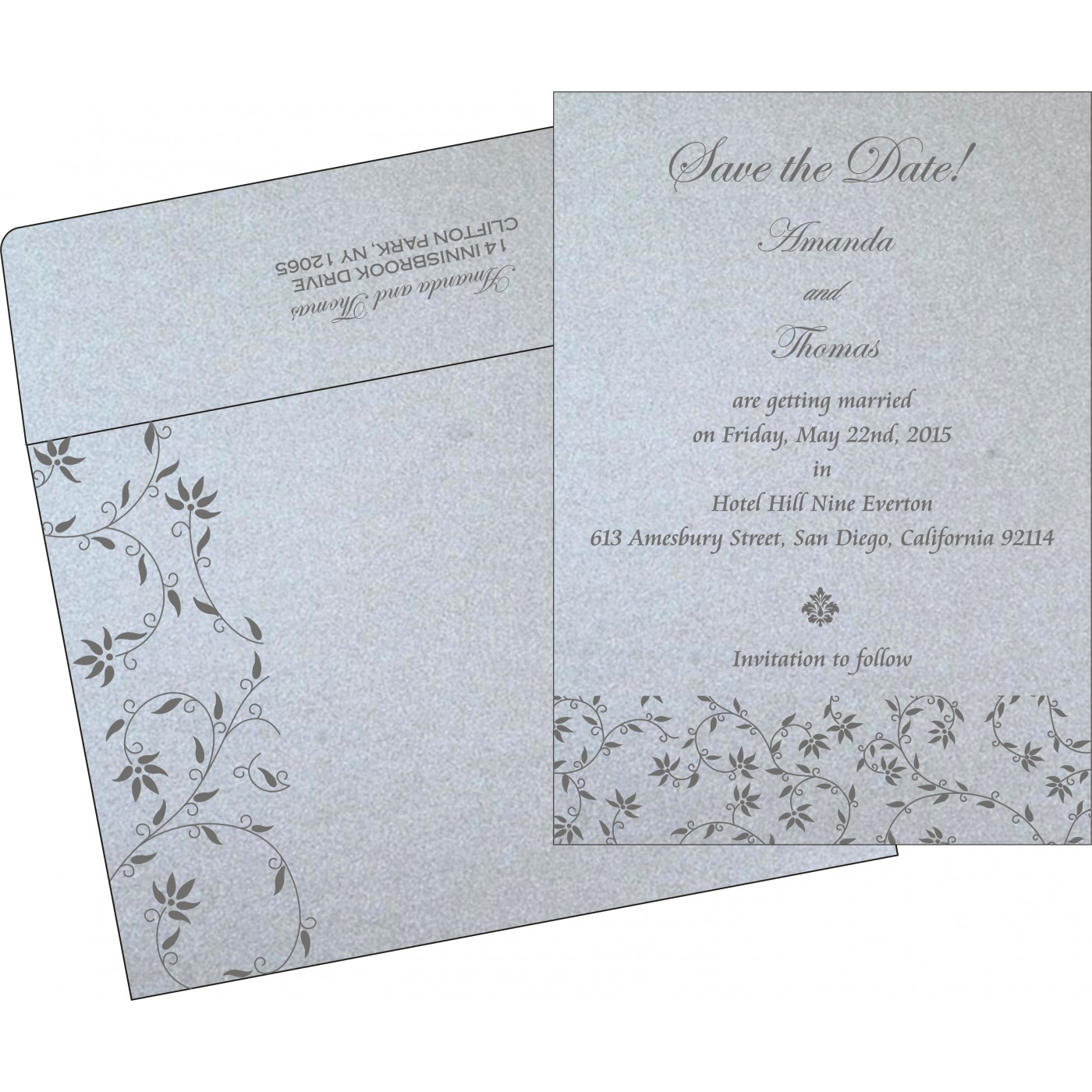 Save The Date Cards : STD-8226A - 123WeddingCards