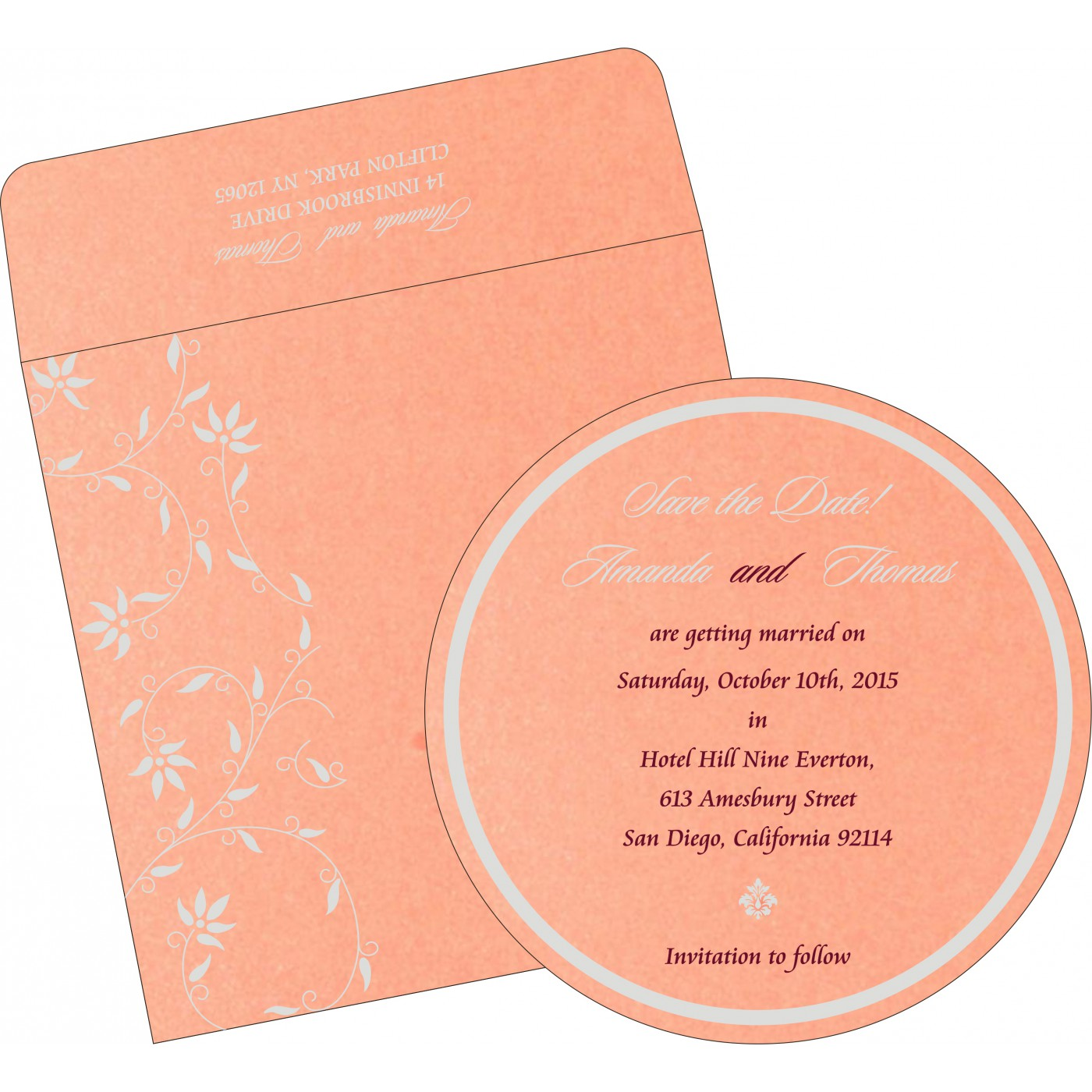Save The Date Cards : STD-8226B - 123WeddingCards