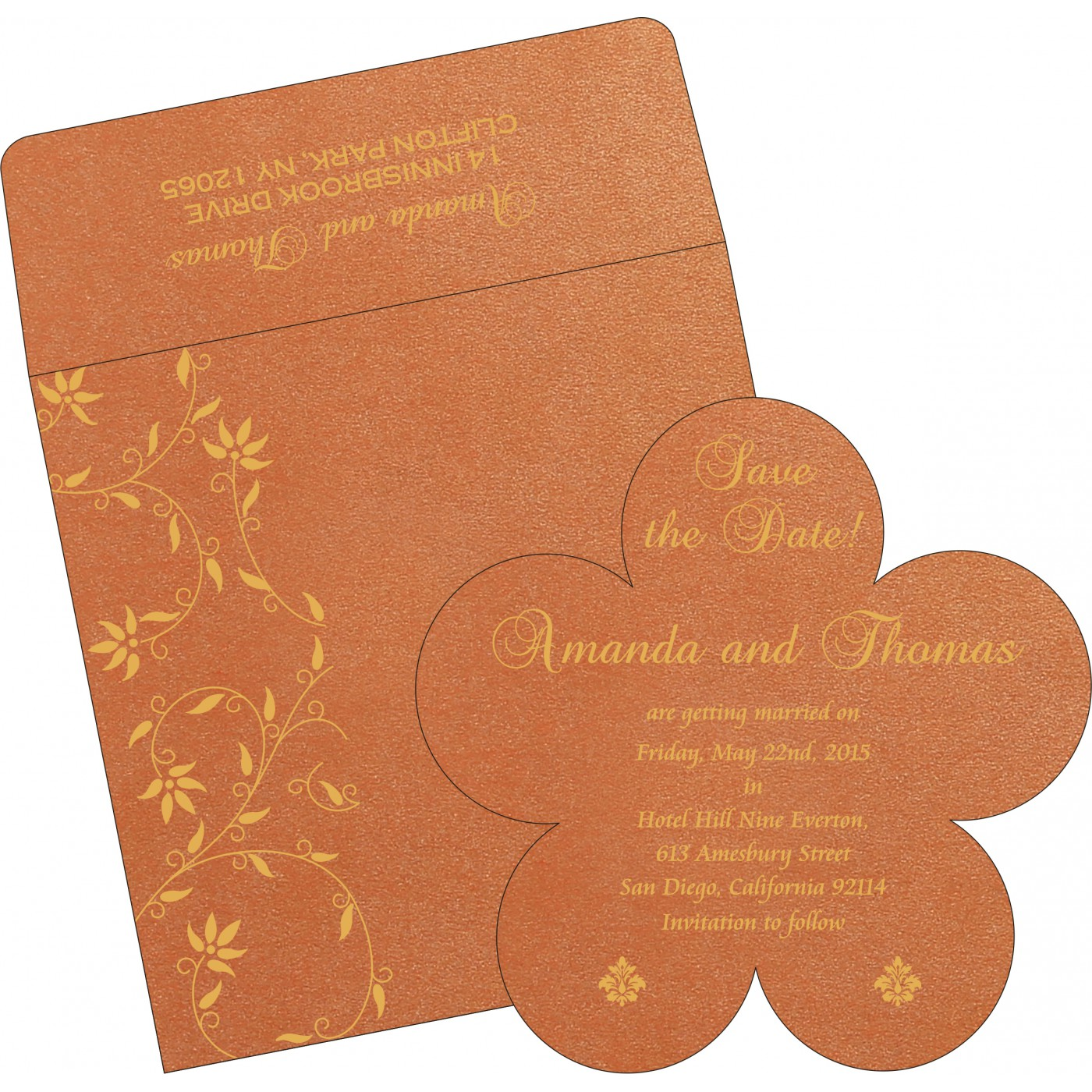 Save The Date Cards : STD-8226E - 123WeddingCards