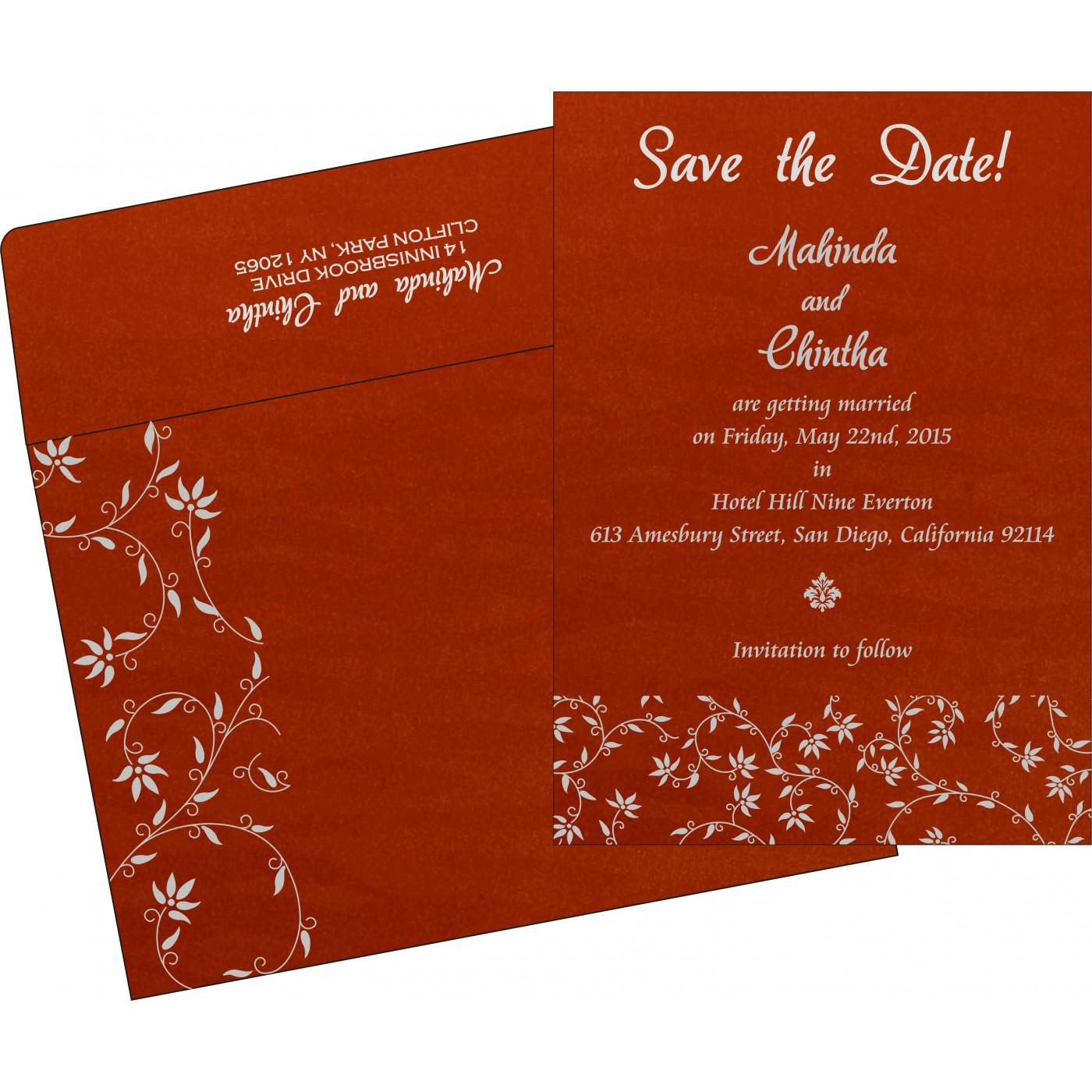 Save The Date Cards : STD-8226I - 123WeddingCards