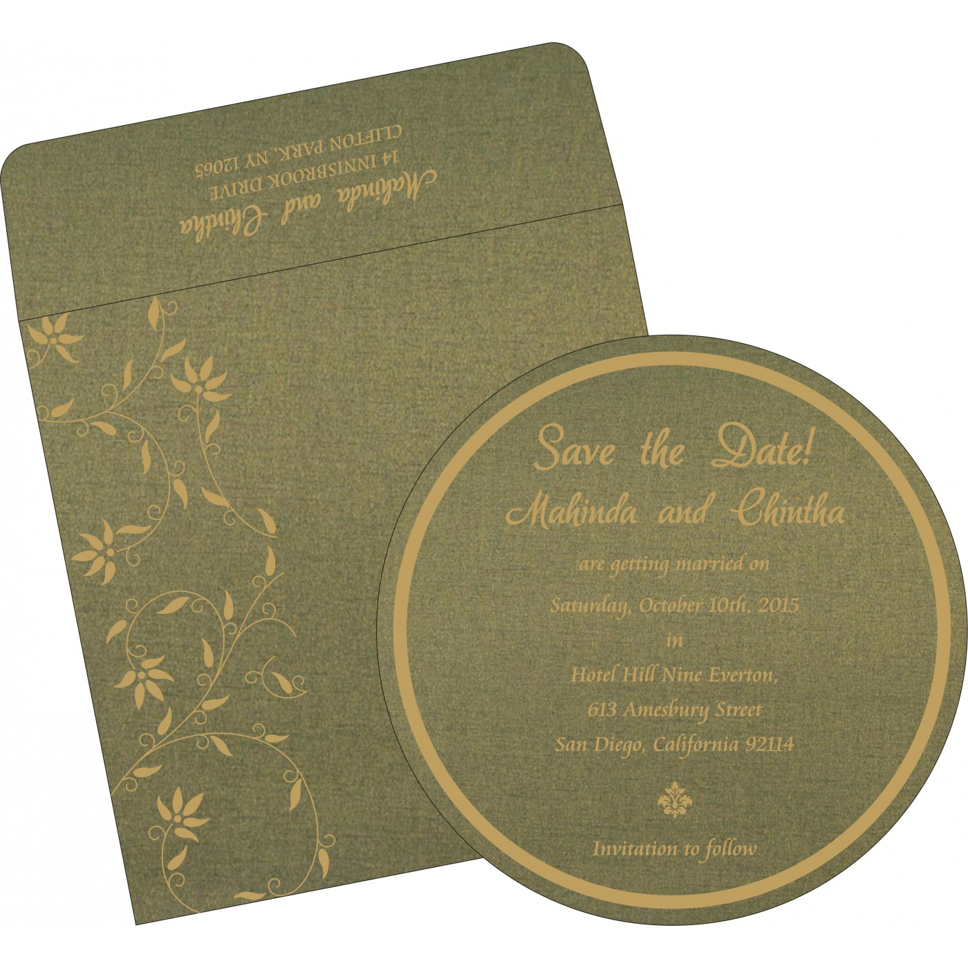 Save The Date Cards : STD-8226Q - 123WeddingCards