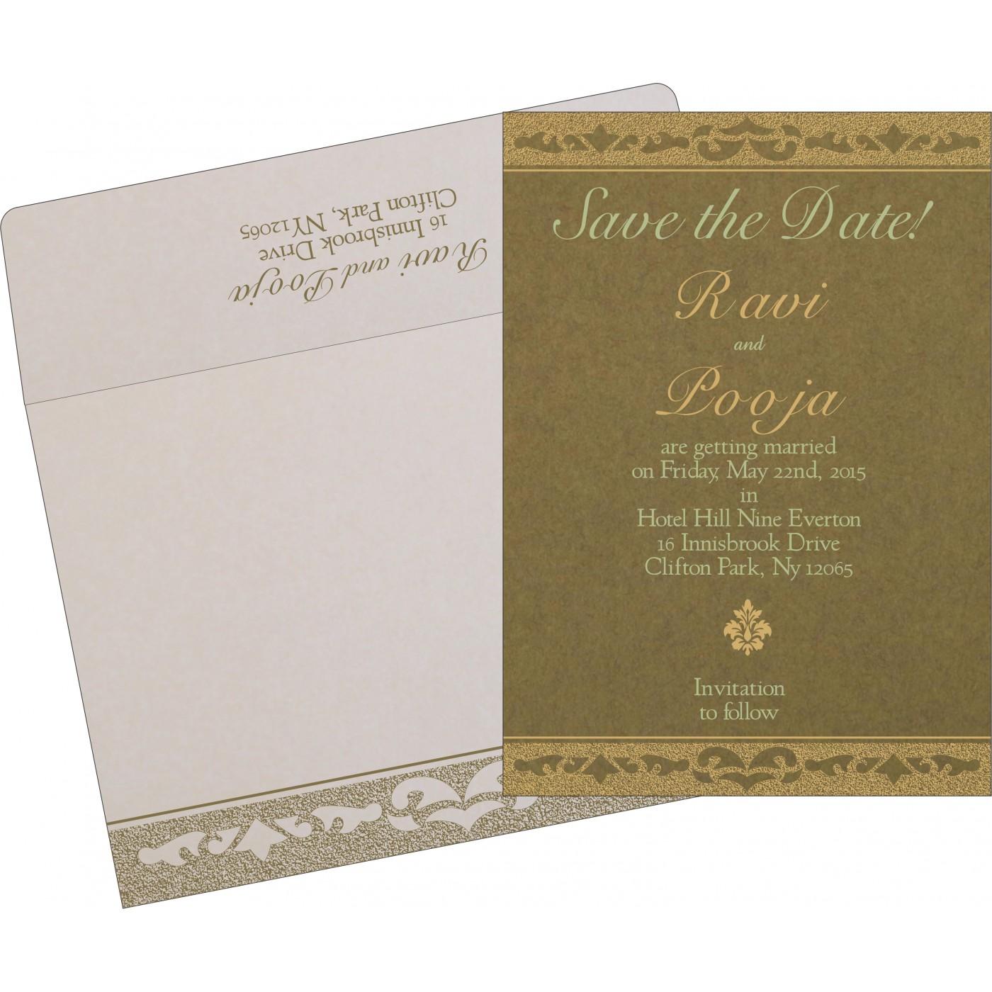 Save The Date Cards : STD-8227F - 123WeddingCards