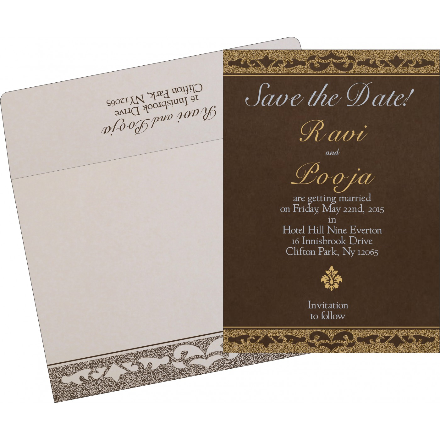 Save The Date Cards : STD-8227P - 123WeddingCards