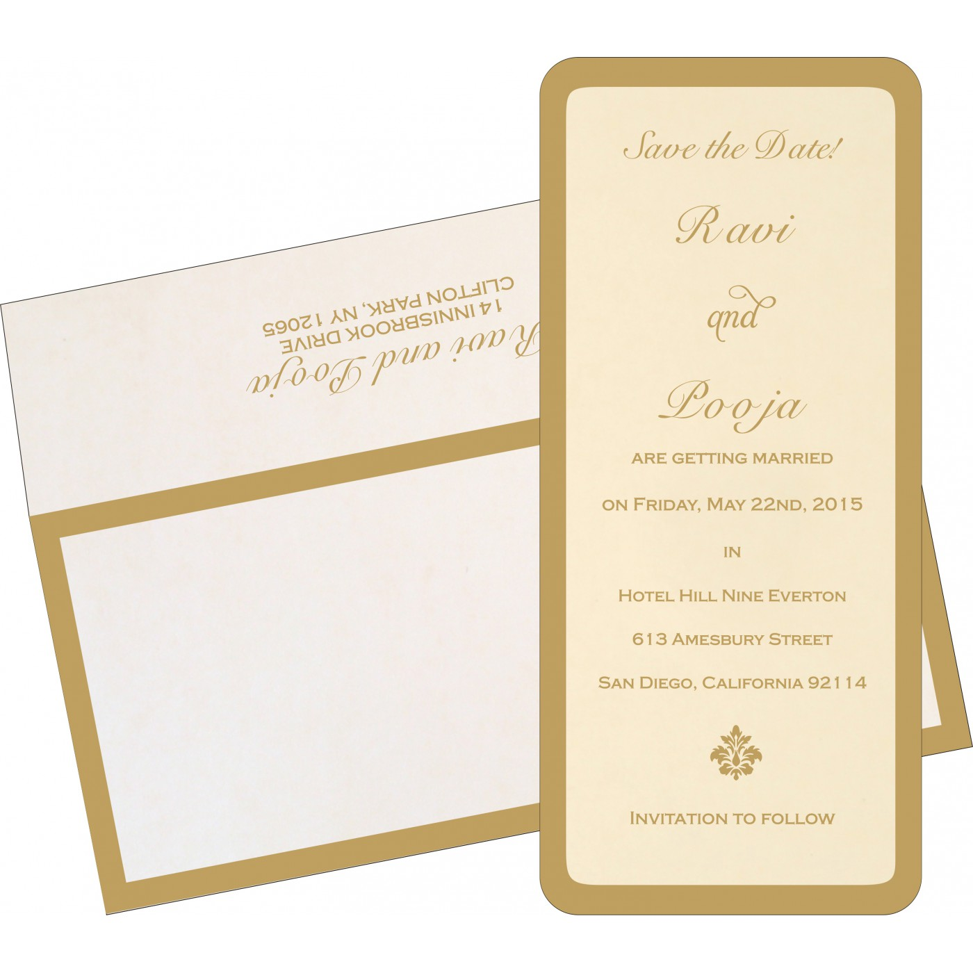 Save The Date Cards : STD-8229E - 123WeddingCards