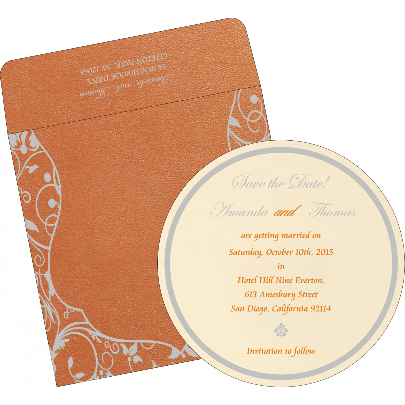 Save The Date Cards : STD-8229I - 123WeddingCards