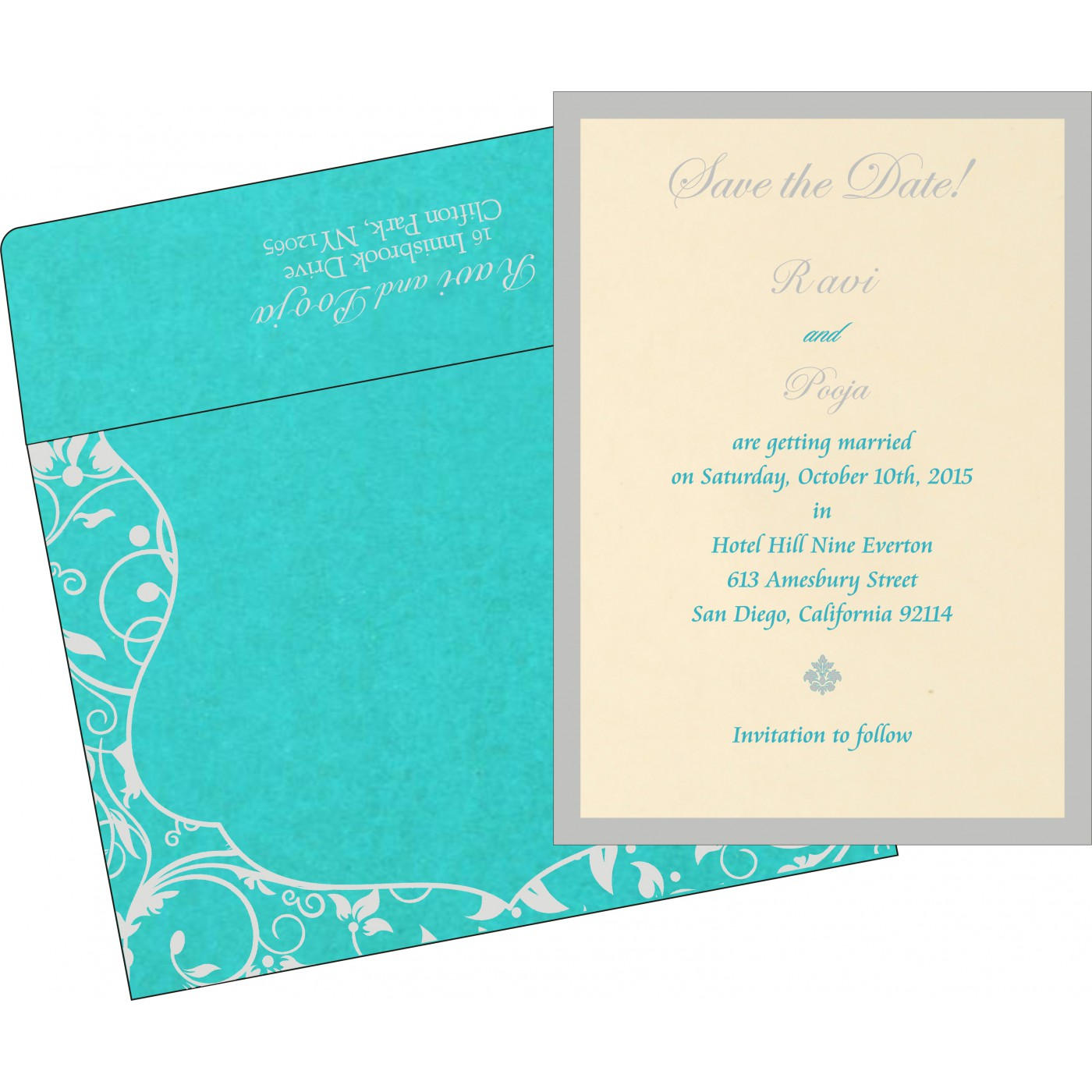 Save The Date Cards : STD-8229M - 123WeddingCards