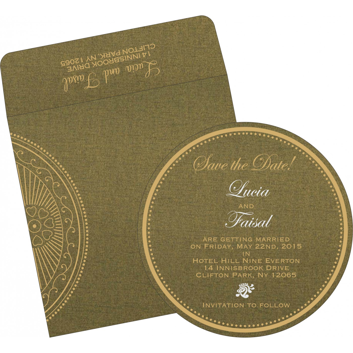 Save The Date Cards : STD-8230L - 123WeddingCards