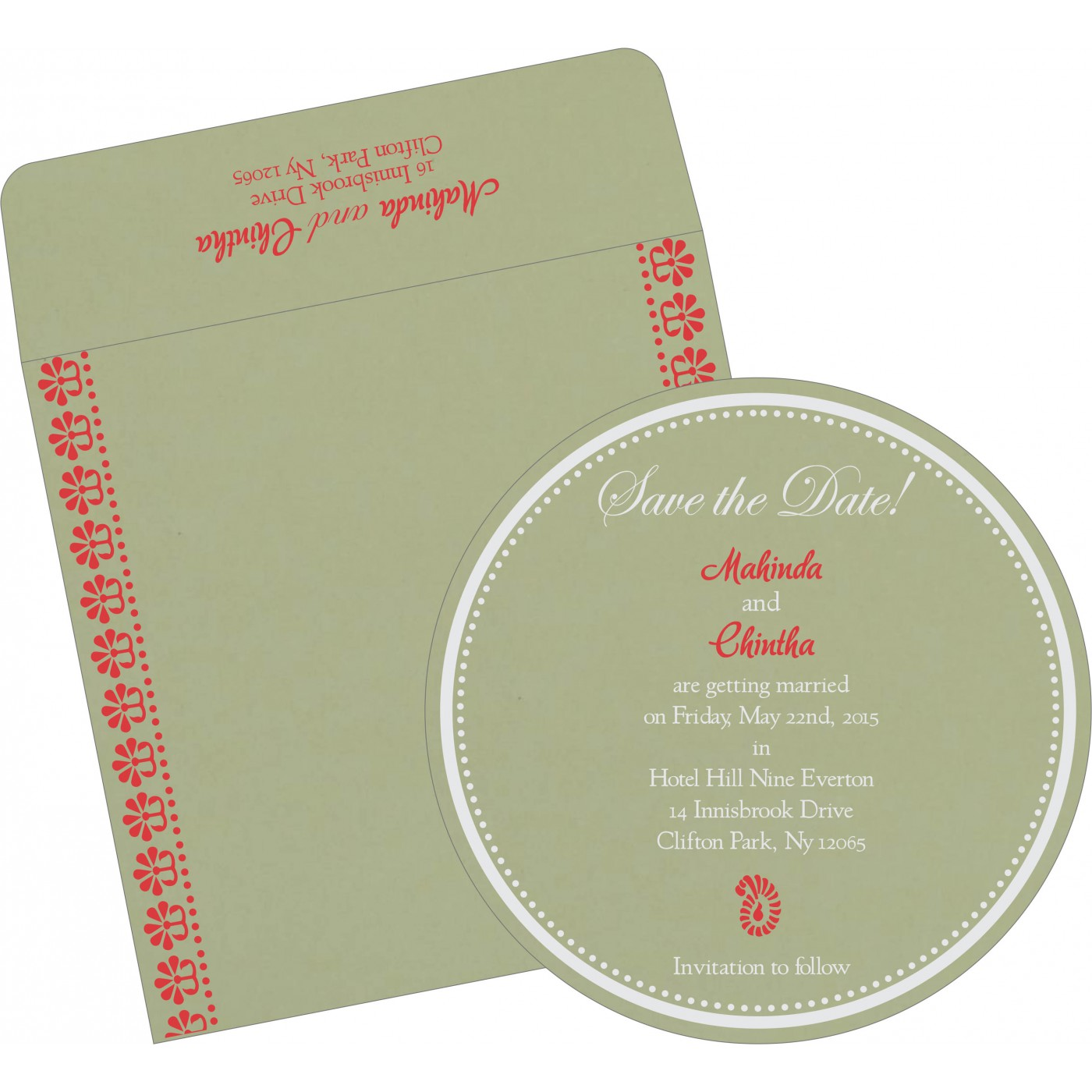 Save The Date Cards : STD-8231G - 123WeddingCards