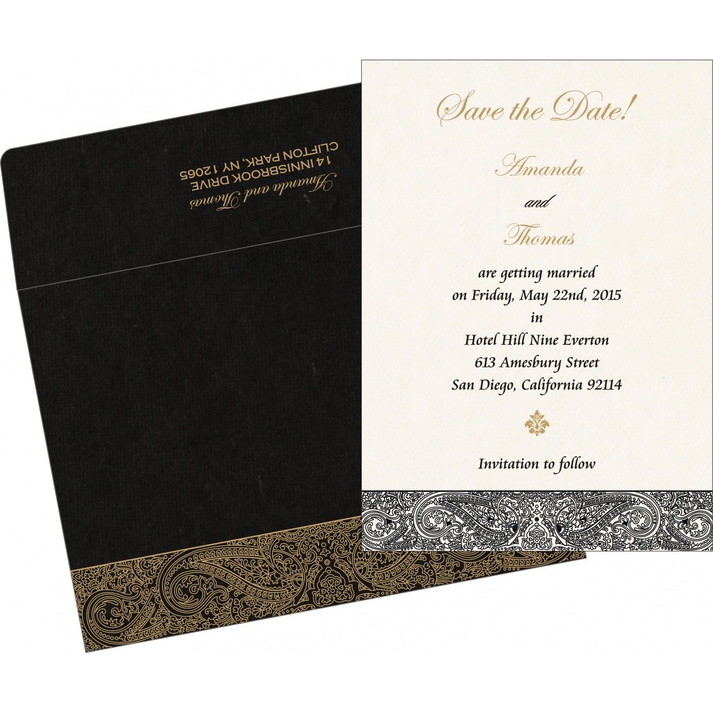 Save The Date Cards : STD-8234A - 123WeddingCards